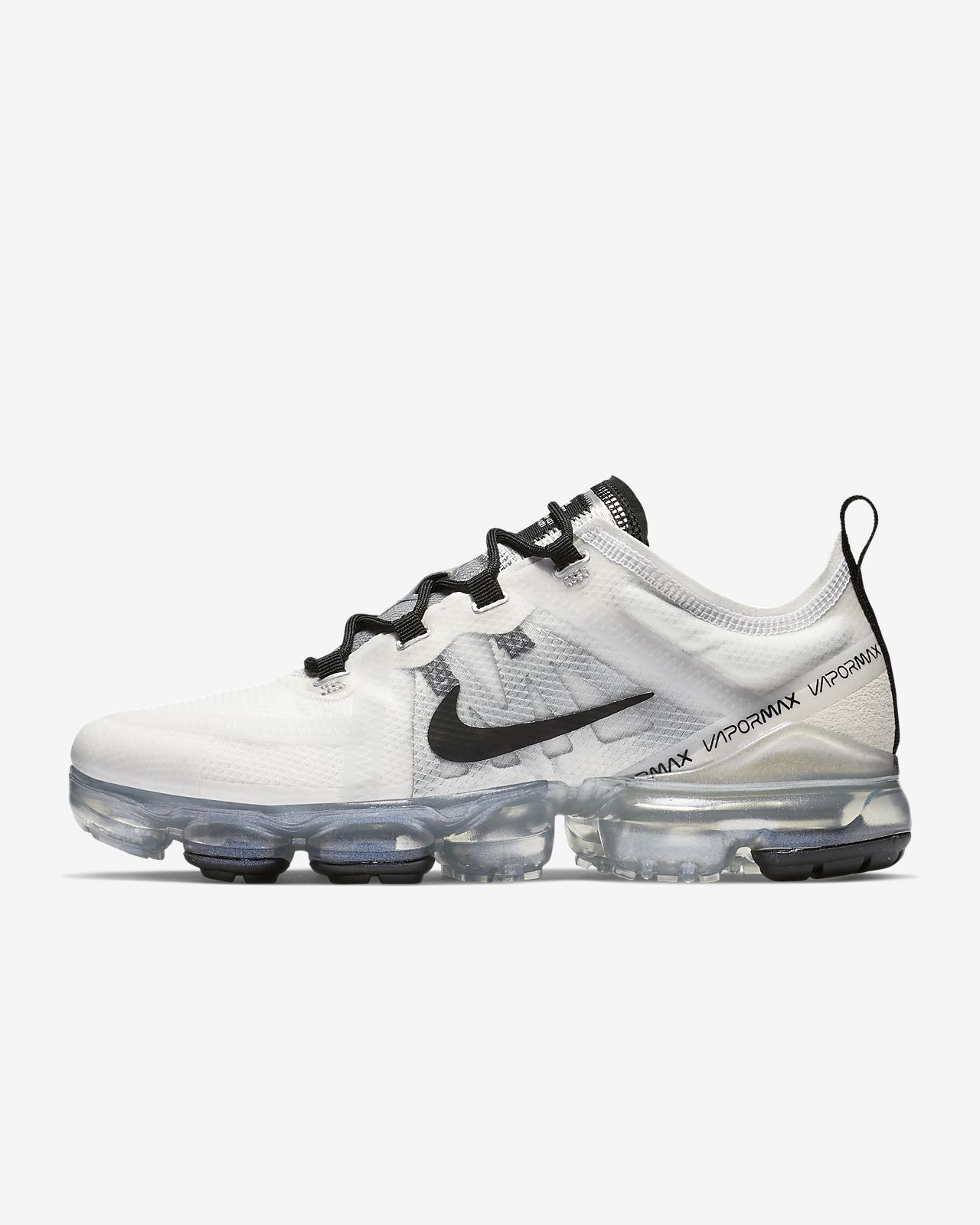 5f6ce6d3d67e0 Men s and Women s Nike Air VaporMax 2019 Black White Shoes. Nike Air  VaporMax 2019