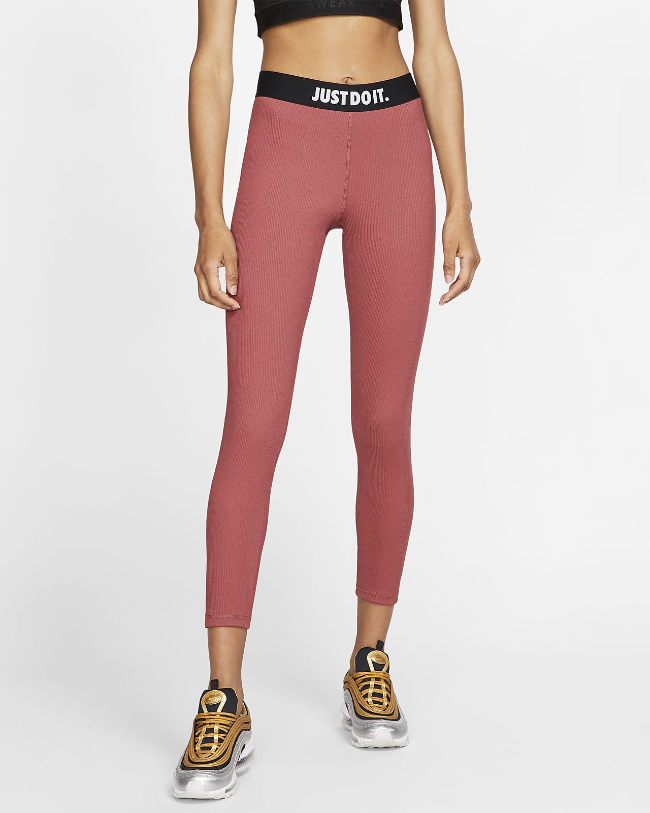 Женские леггинсы из рубчатой ткани с графикой JDI Nike Sportswear