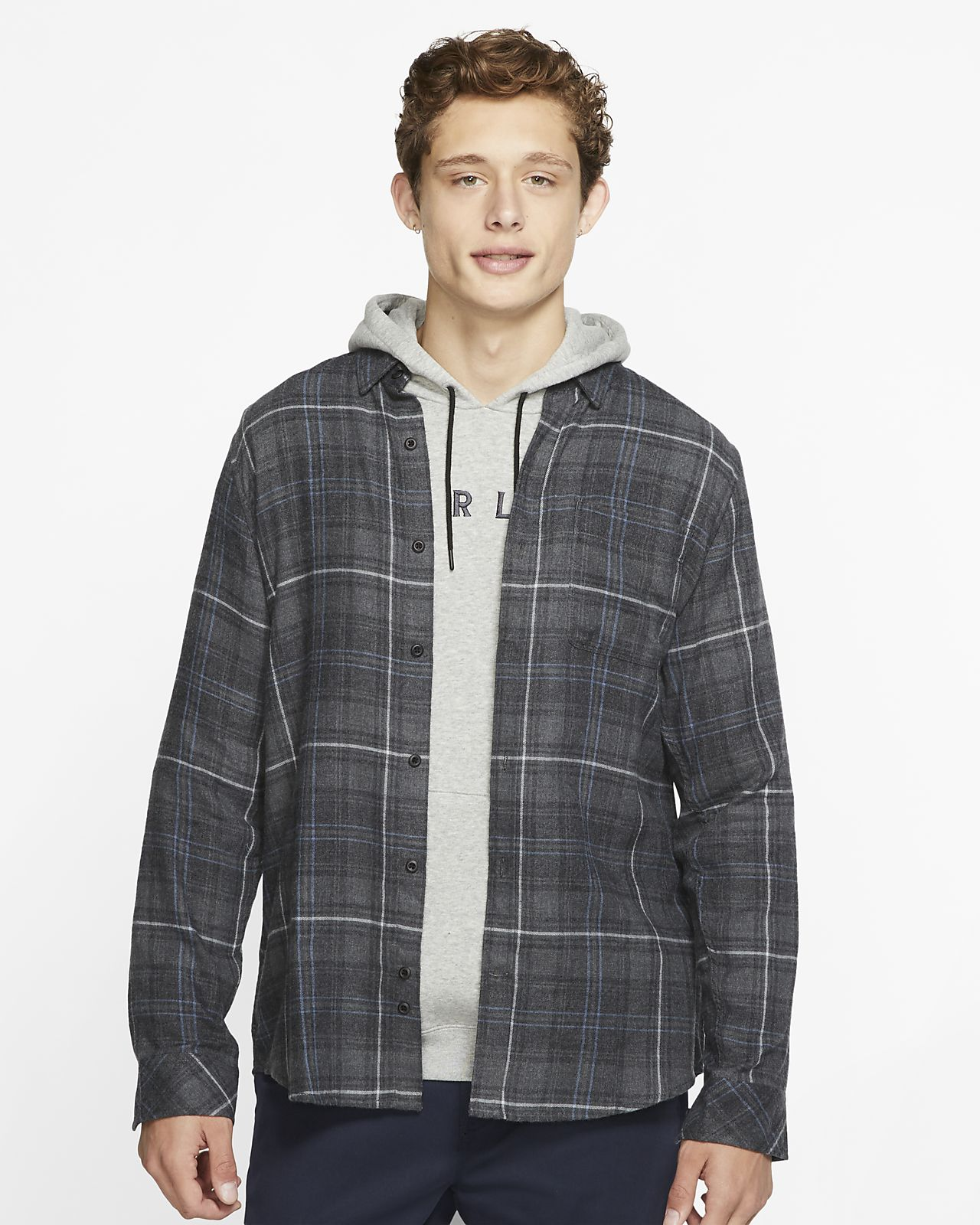 Långärmad tröja Hurley Vedder Washed för män
