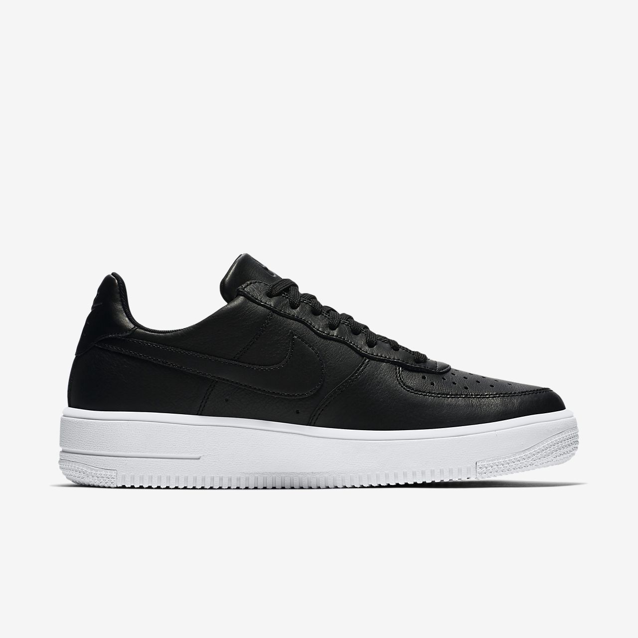 nike air force 1 black and white leather
