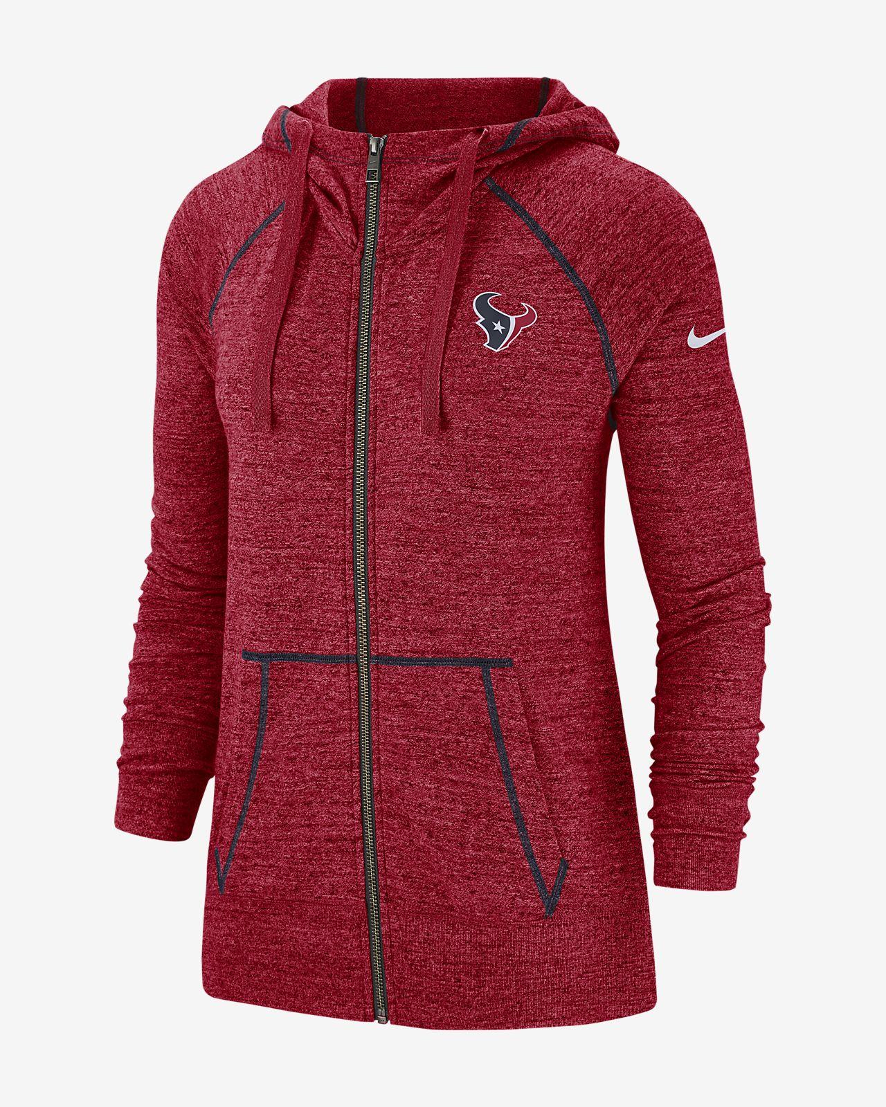 new product 4c033 889ae Nike Gym Vintage (NFL Texans) Women's Full-Zip Hoodie