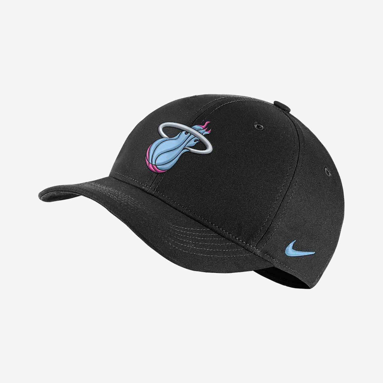 5b9cb55d34f65 Miami Heat City Edition Nike AeroBill Classic99 NBA Hat. Nike.com ID