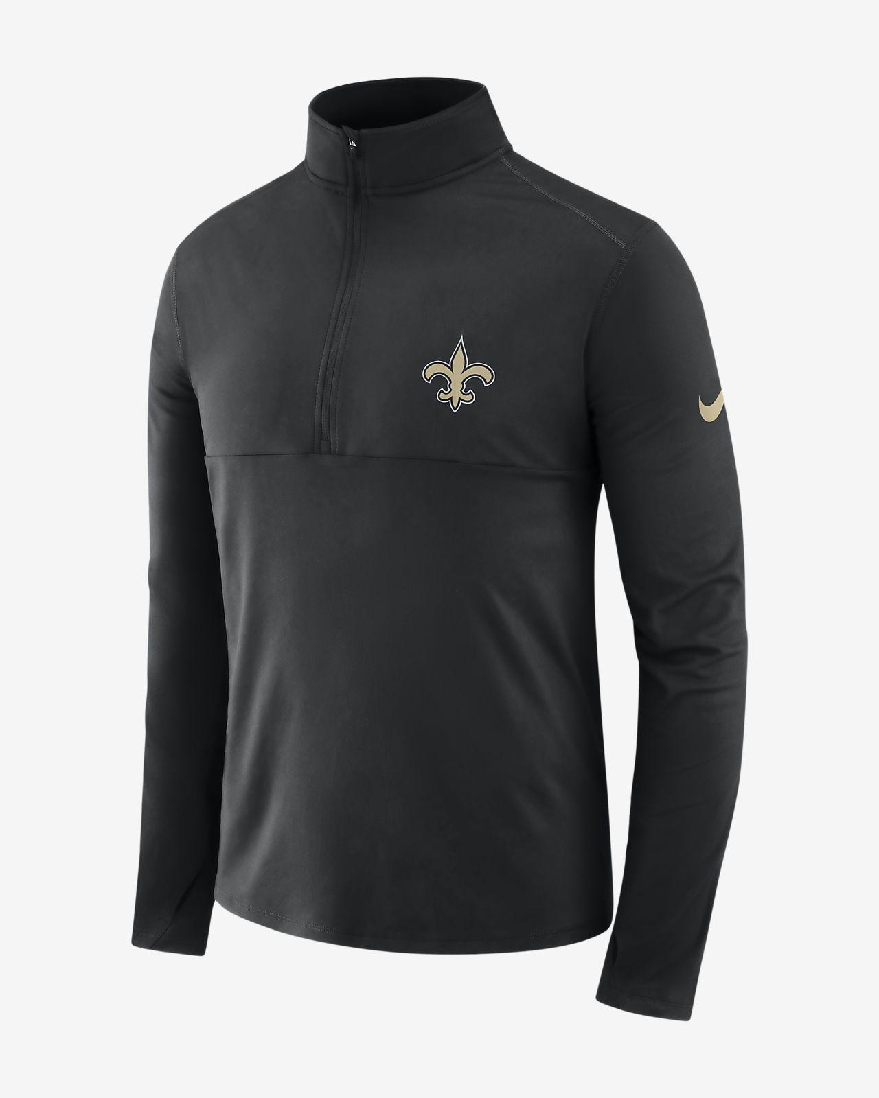 Nike Dri-FIT (NFL Saints) Men s Long-Sleeve Half-Zip Top. Nike.com 8c8c12908