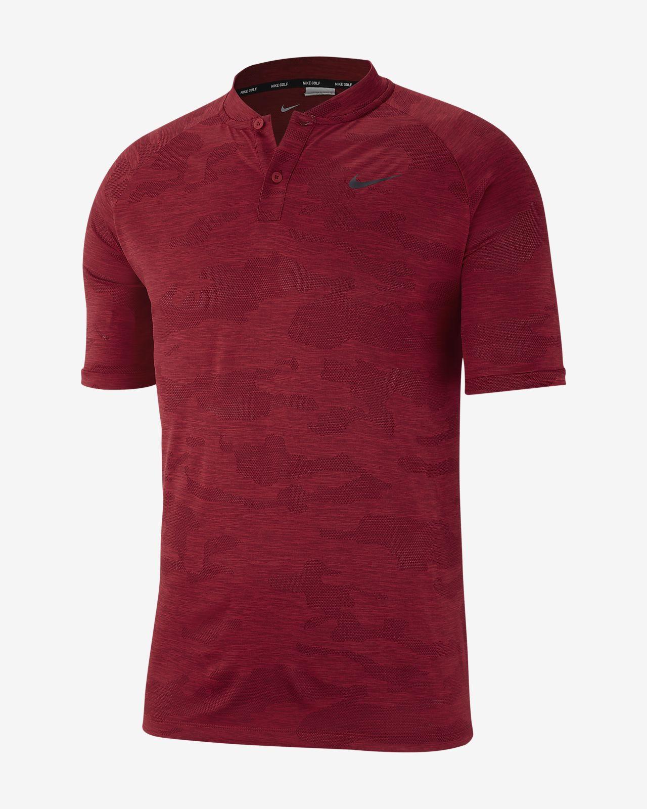 Nike Zonal Cooling golfskjorte med kamomønster til herre