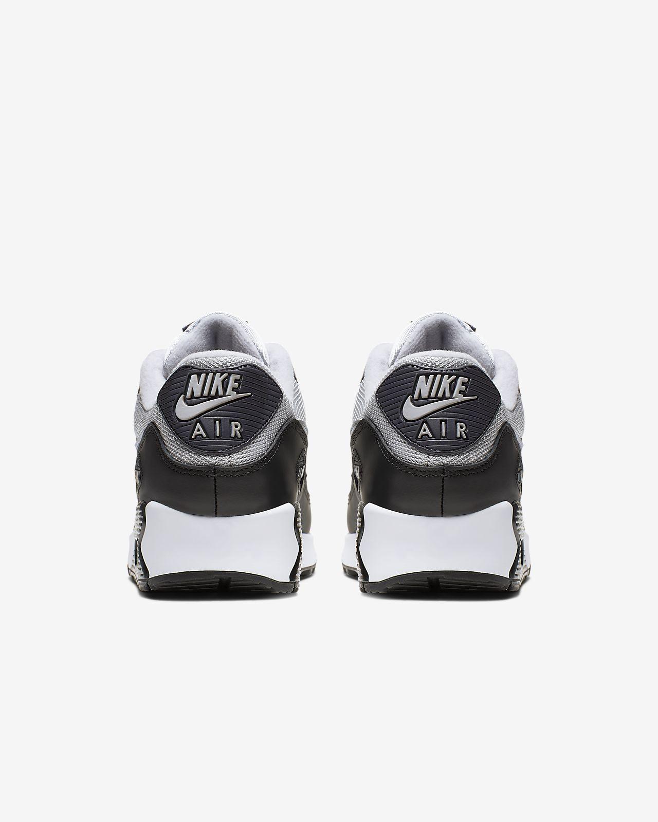 detalles de nike air max 90 de cuero blanco malla zapatillas