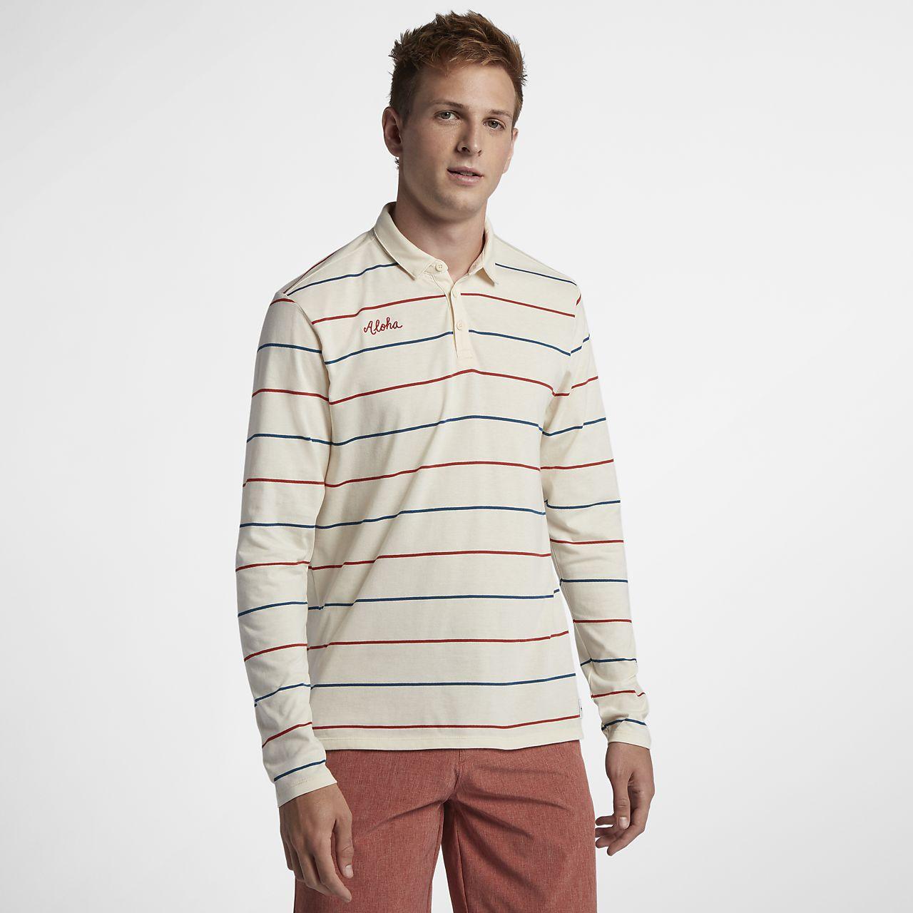 Hurley Channels langermet poloskjorte til herre