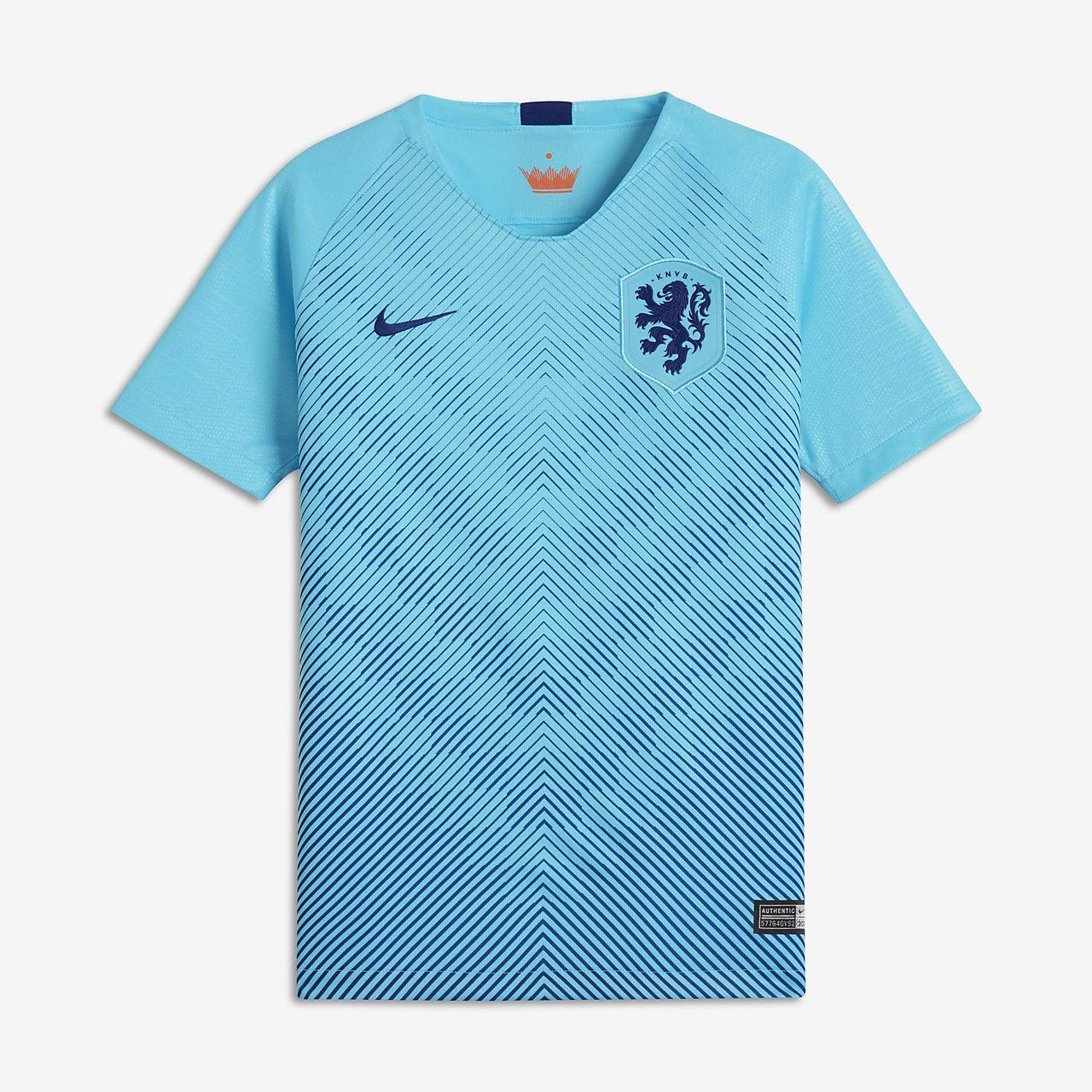 2018 Niederlande Stadium Away Fußballtrikot für ältere Kinder