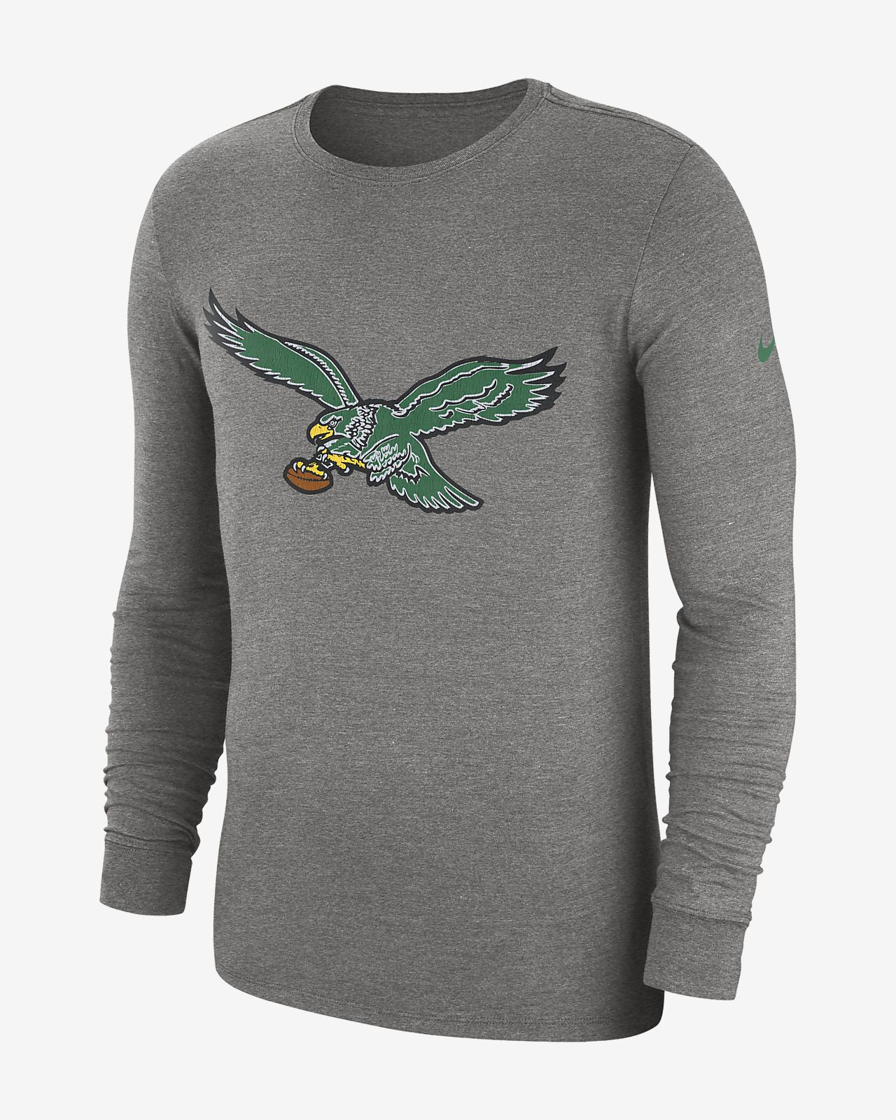 6d46a3ff7 Nike (NFL Eagles) Men s Tri-Blend Long Sleeve T-Shirt. Nike.com