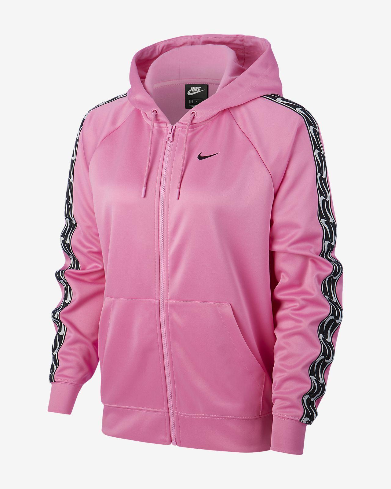 Nike Sportswear Damen Hoodie mit Logo und durchgehendem Reißverschluss