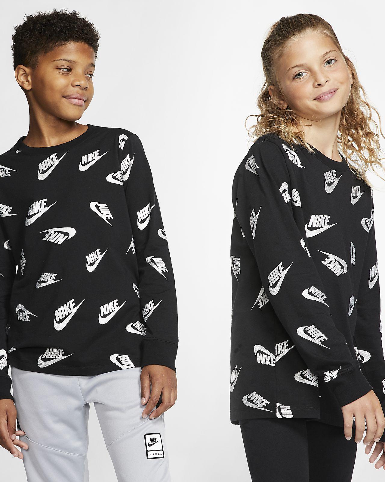 T-shirt z długim rękawem dla dużych dzieci Nike Sportswear