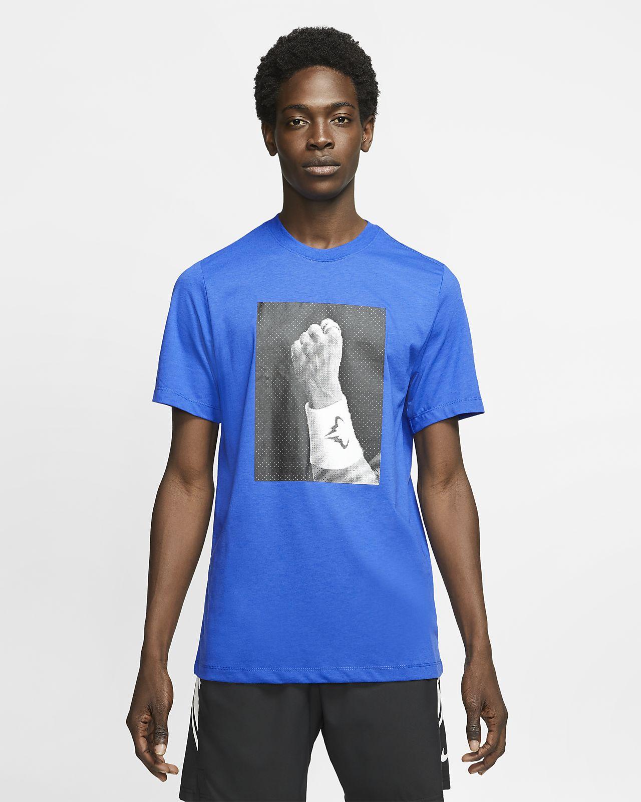 NikeCourt Dri-FIT Rafa tennis-T-skjorte med trykk til herre