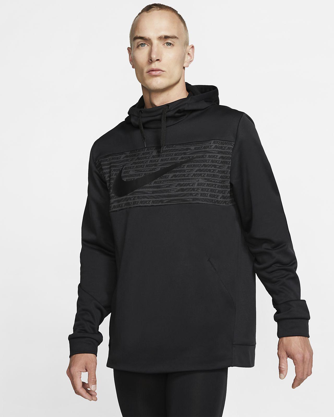Träningshuvtröja i fleece Nike Therma Pullover för män
