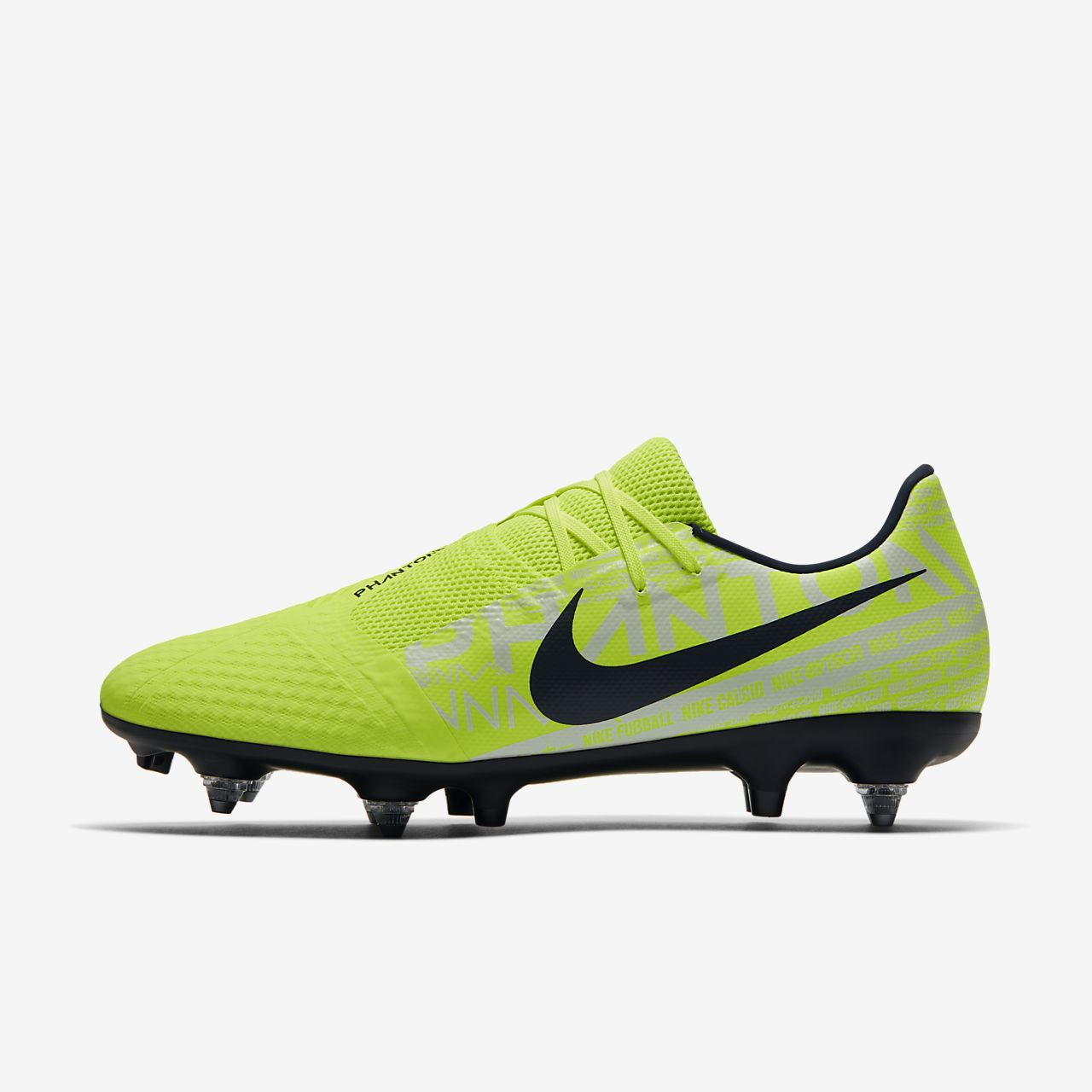 Nike PhantomVNM Academy SG-Pro Anti-Clog Traction Botas de fútbol para terreno blando
