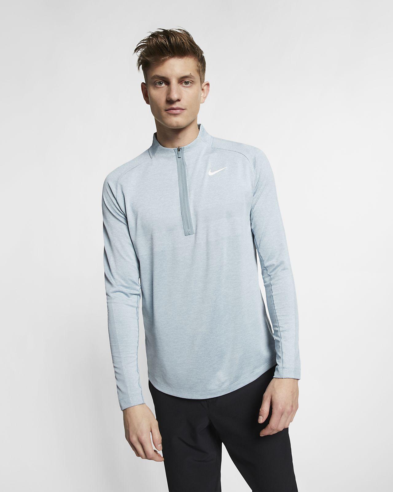 Мужская футболка с молнией на половину длины для гольфа Nike Dri-FIT