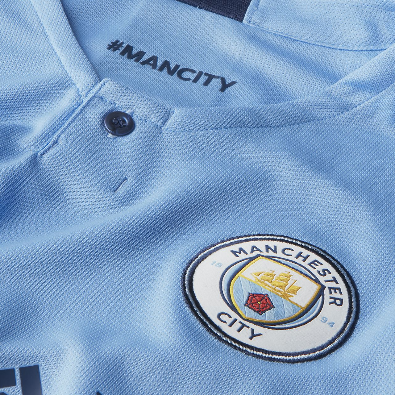 d1f2d3367 ... 2018 19 Manchester City FC Stadium Home Men s Long-Sleeve Football Shirt