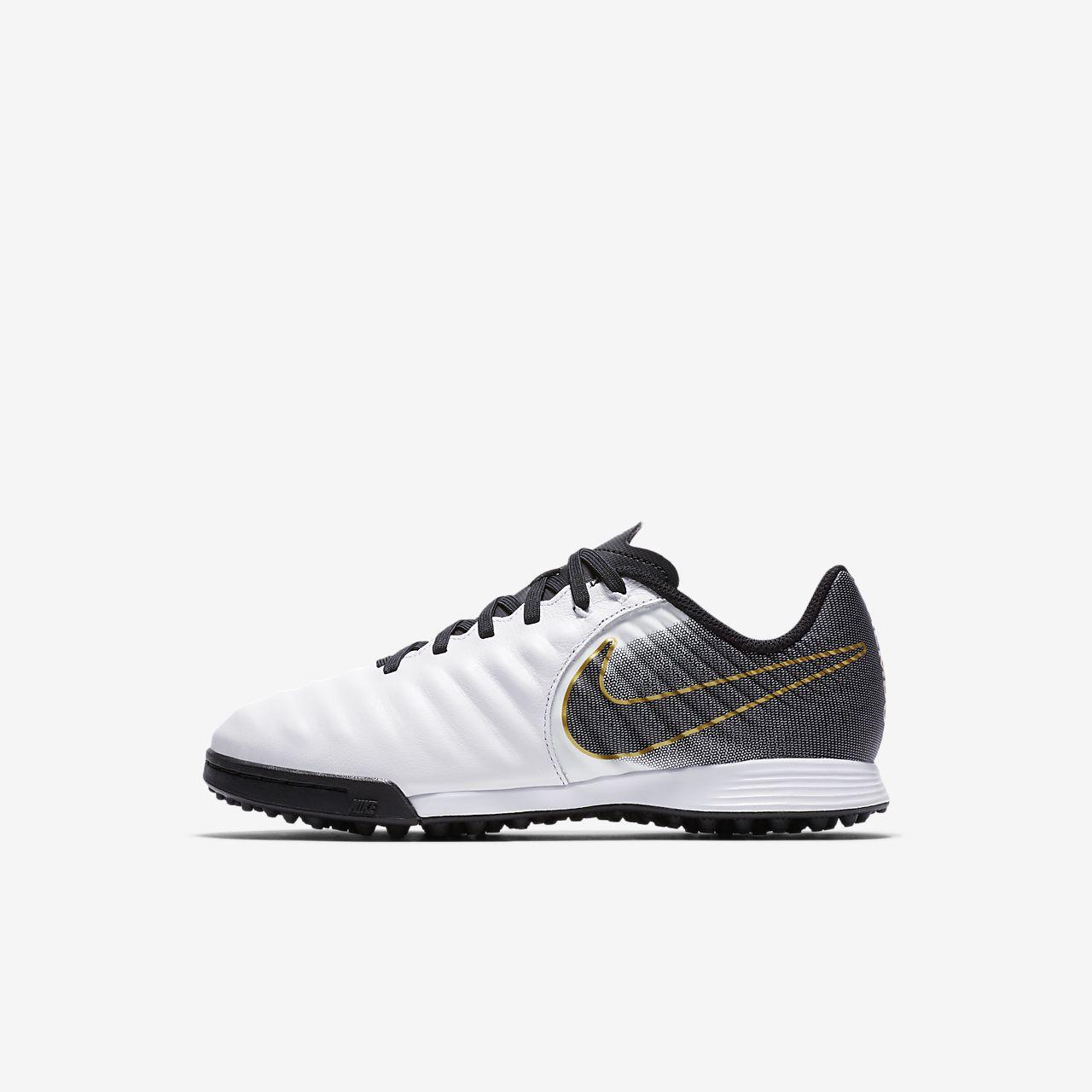 ... Calzado de fútbol de césped artificial para niños de talla  pequeña grande Nike Jr. 2ea3134627a3b