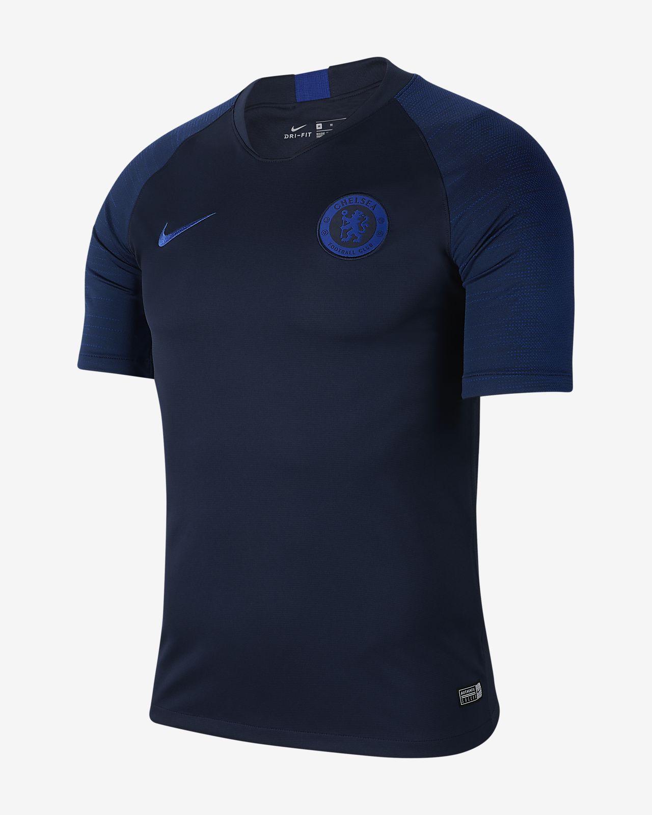 Kortärmad fotbollströja Nike Breathe Chelsea FC Strike för män