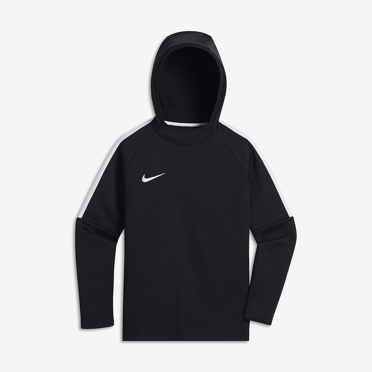 Nike Dri Fit Academy Hoodie Black White