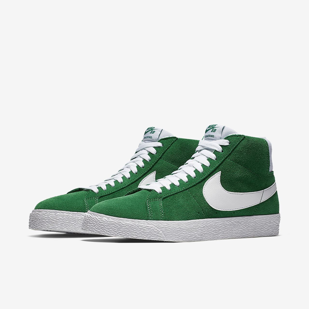 Nike SB Zoom Blazer Mid Men's Skateboarding Shoes Green/White sD1554E