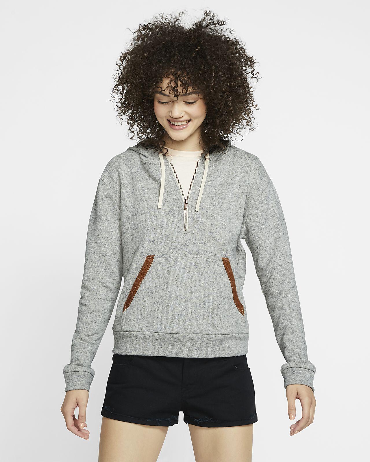 Женская флисовая футболка с молнией на половину длины Hurley Two Faced