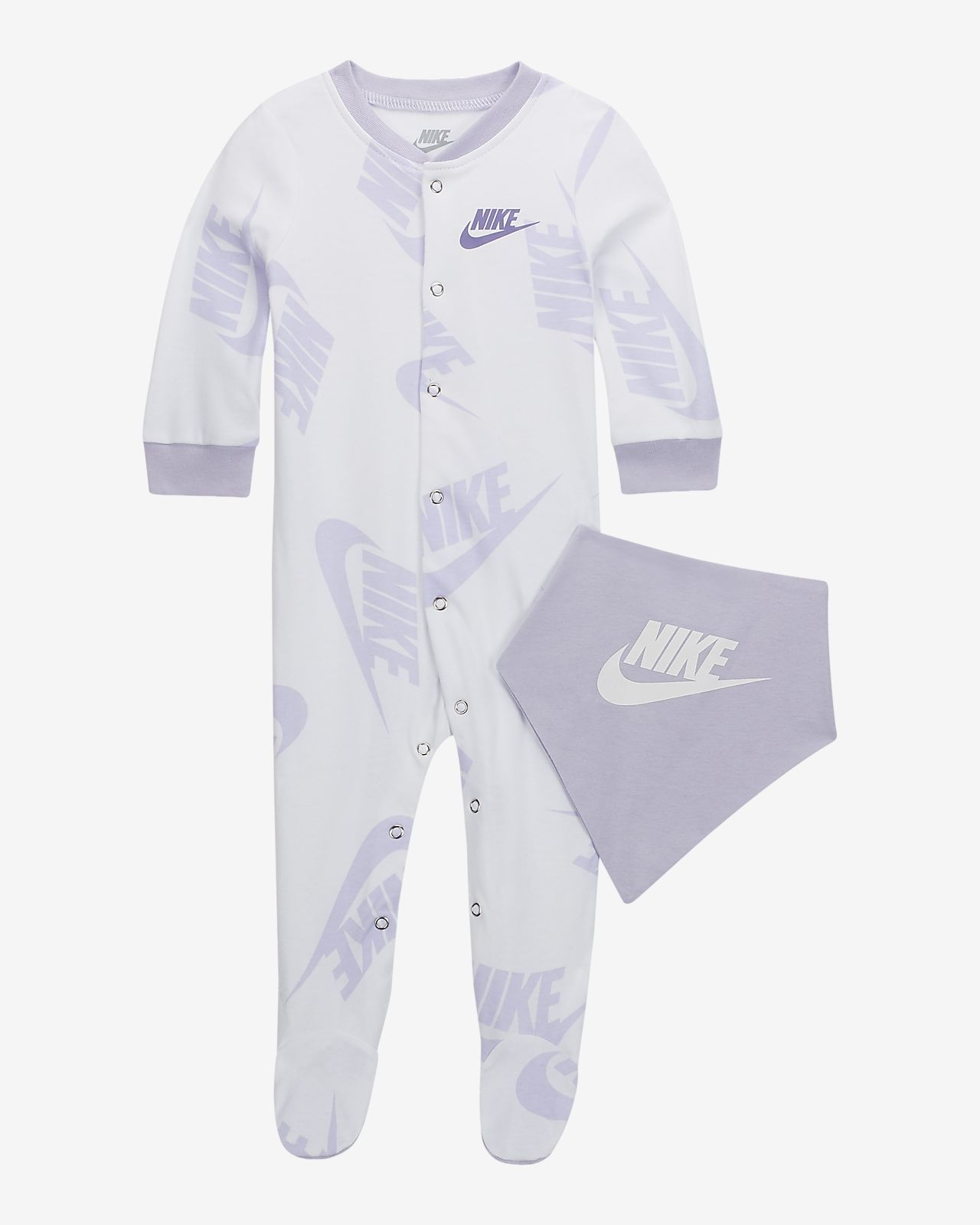 08fabe37303 ... 2-delt Nike Sportswear-sæt med heldragt & hagesmæk til babyer