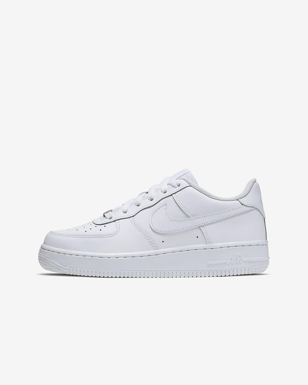 Sko Nike Air Force 1 Triple White för ungdom