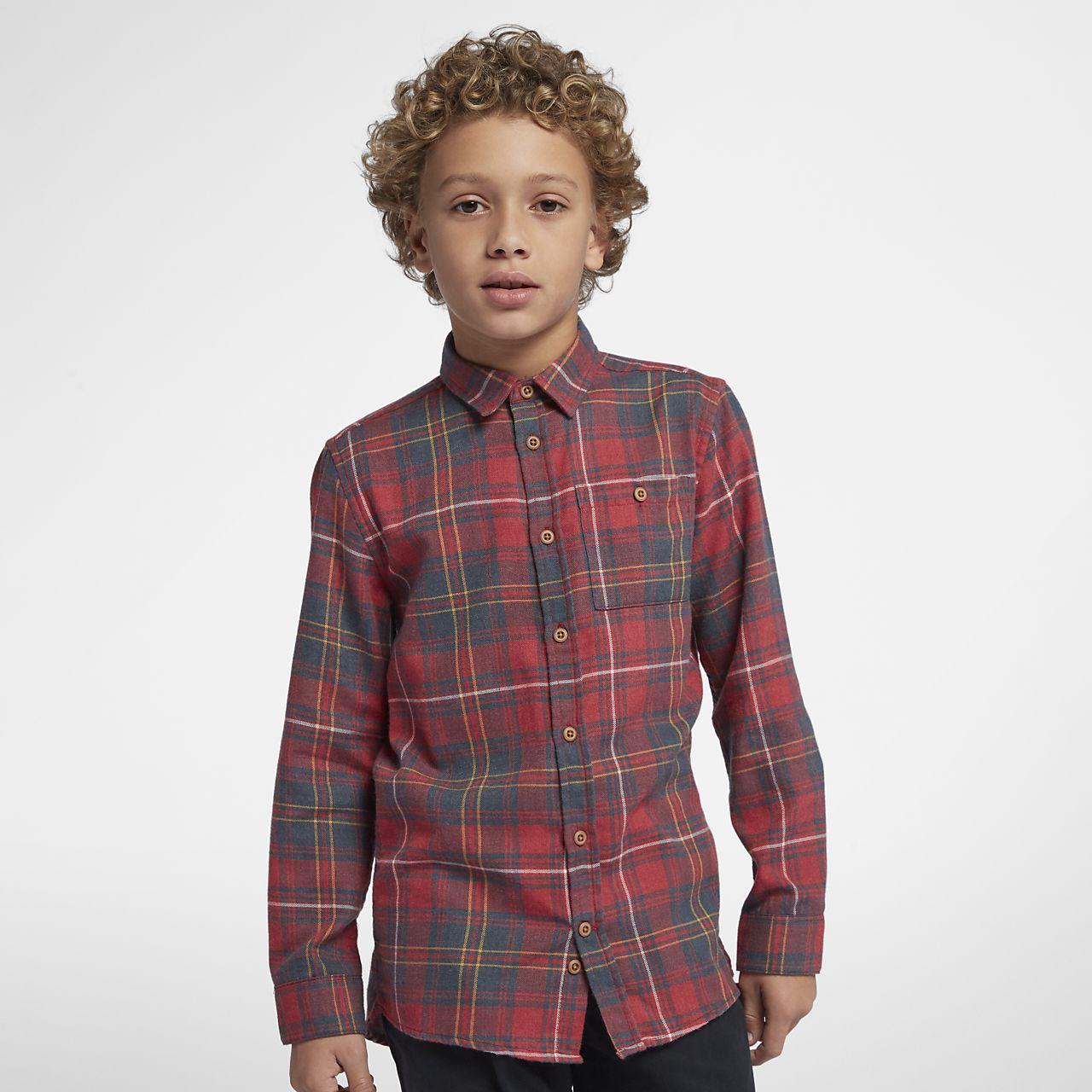 Hurley Kurt Boys' Long-Sleeve Shirt