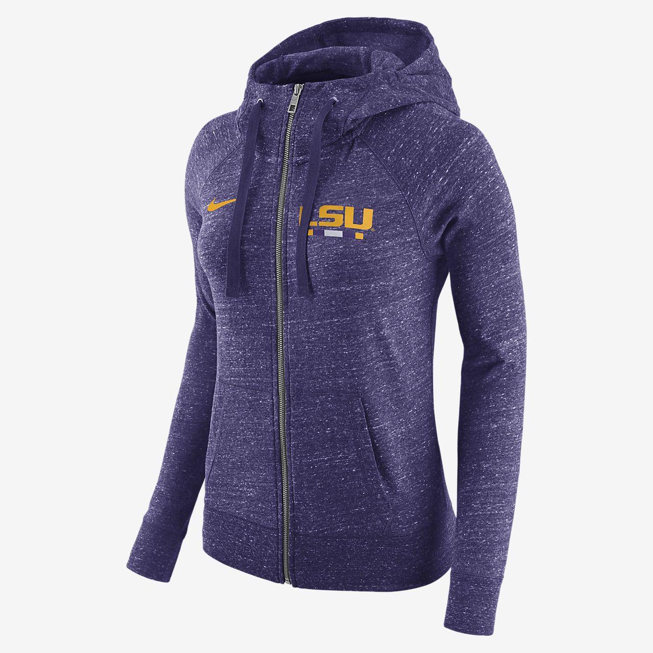 ... Nike College Gym Vintage (LSU) Women's Full-Zip Hoodie