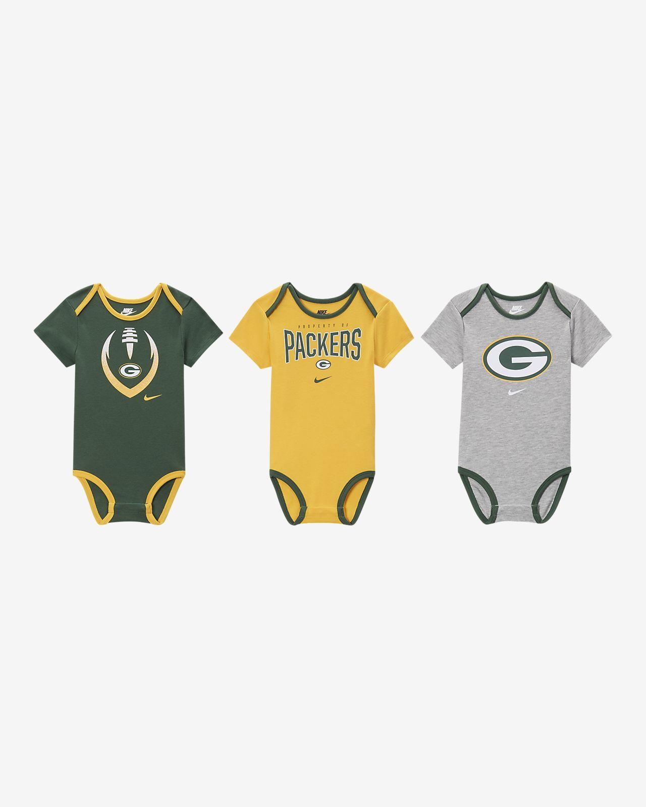 Nike (NFL Packers) Baby Bodysuit (3-Pack)
