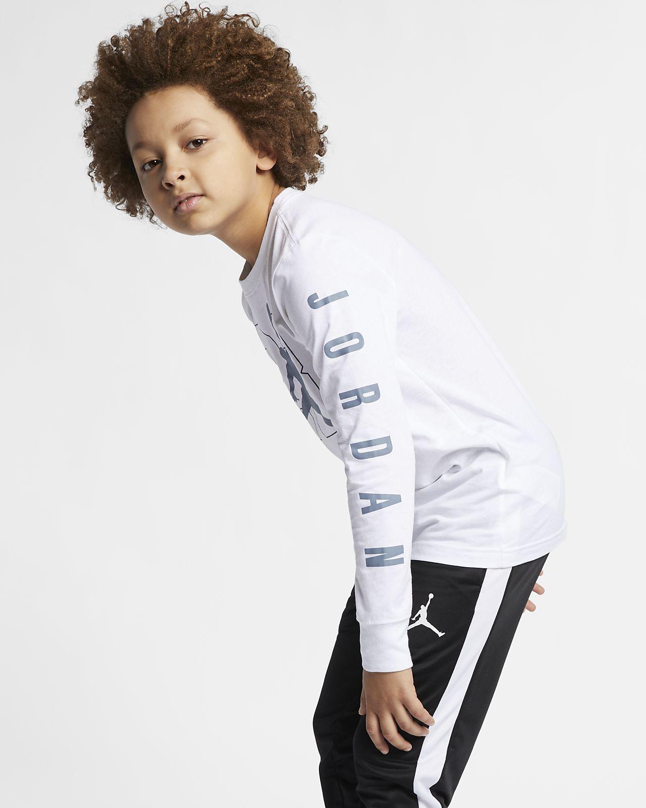 83415ae1 Jordan Jumpman 23 Older Kids' (Boys') Long-Sleeve Graphic T-Shirt ...