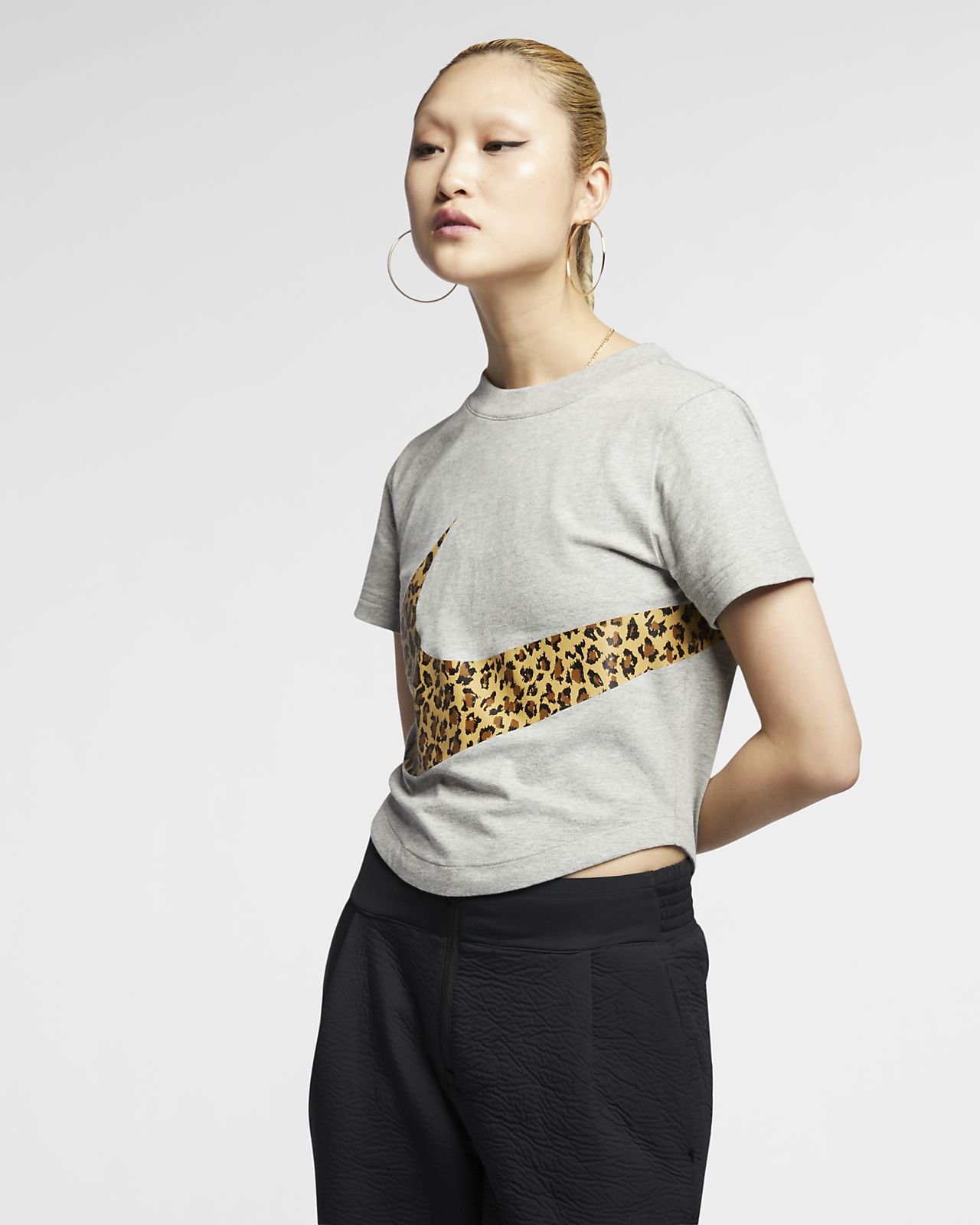 ... Nike Sportswear Women's Animal Cropped Top