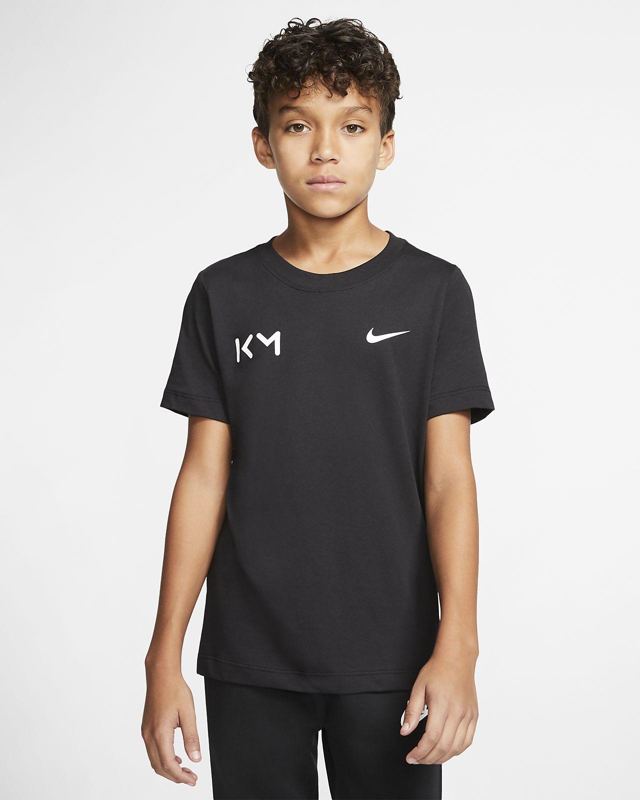 Kylian Mbappé Older Kids' Football T-Shirt