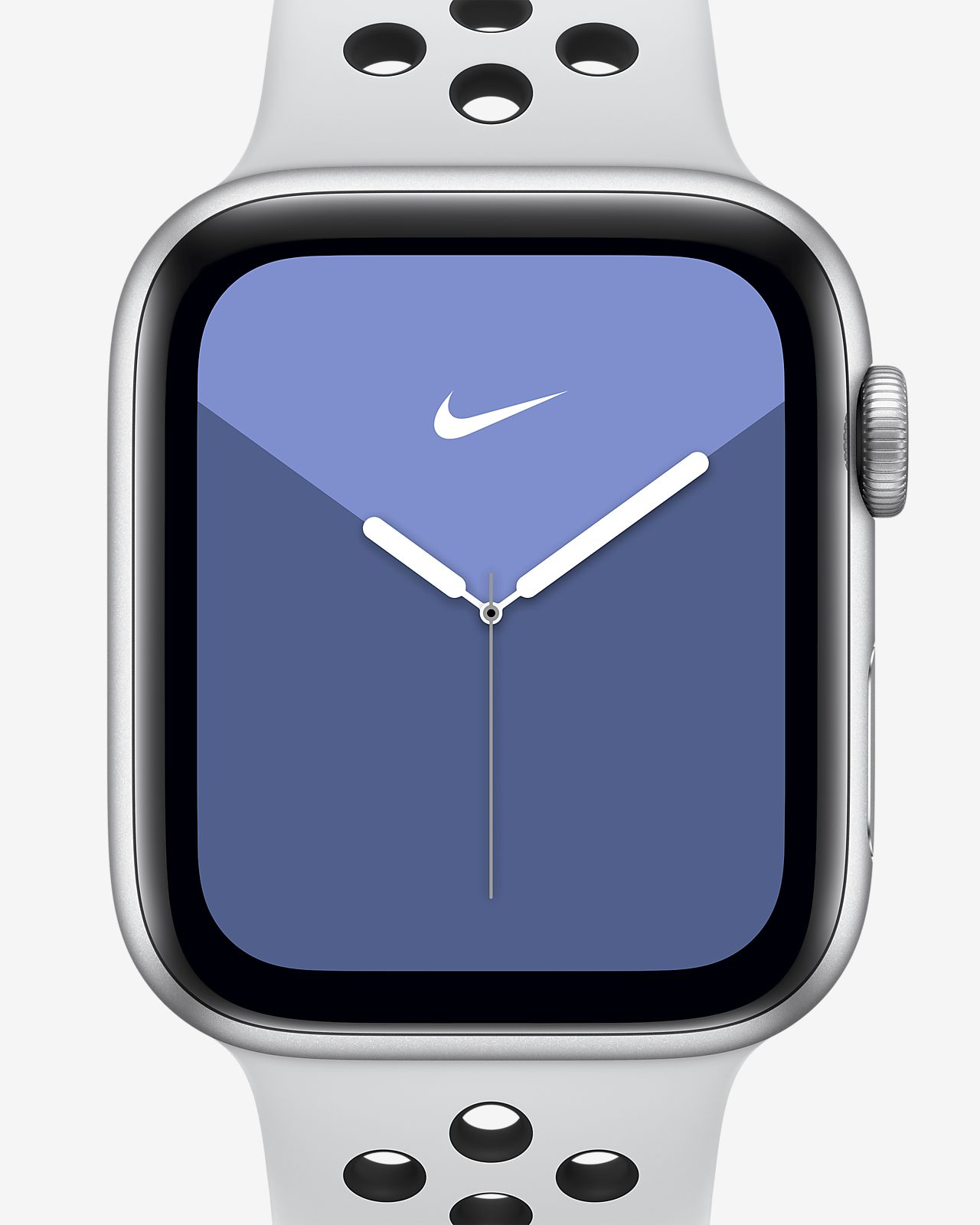 Apple Watch Nike Series 5 (GPS) amb corretja Nike Sport Band i caixa d'alumini platejat de 40 mm