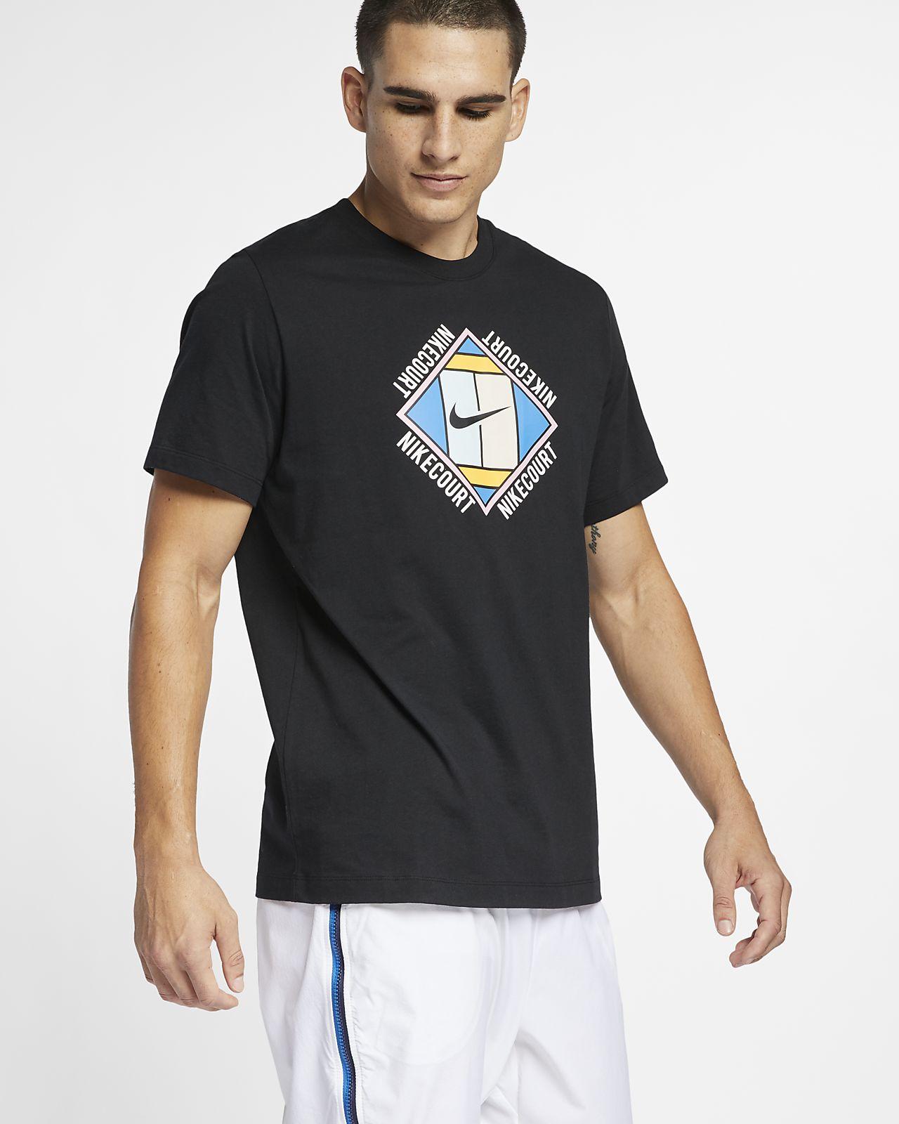 T-shirt de ténis com grafismo NikeCourt para homem