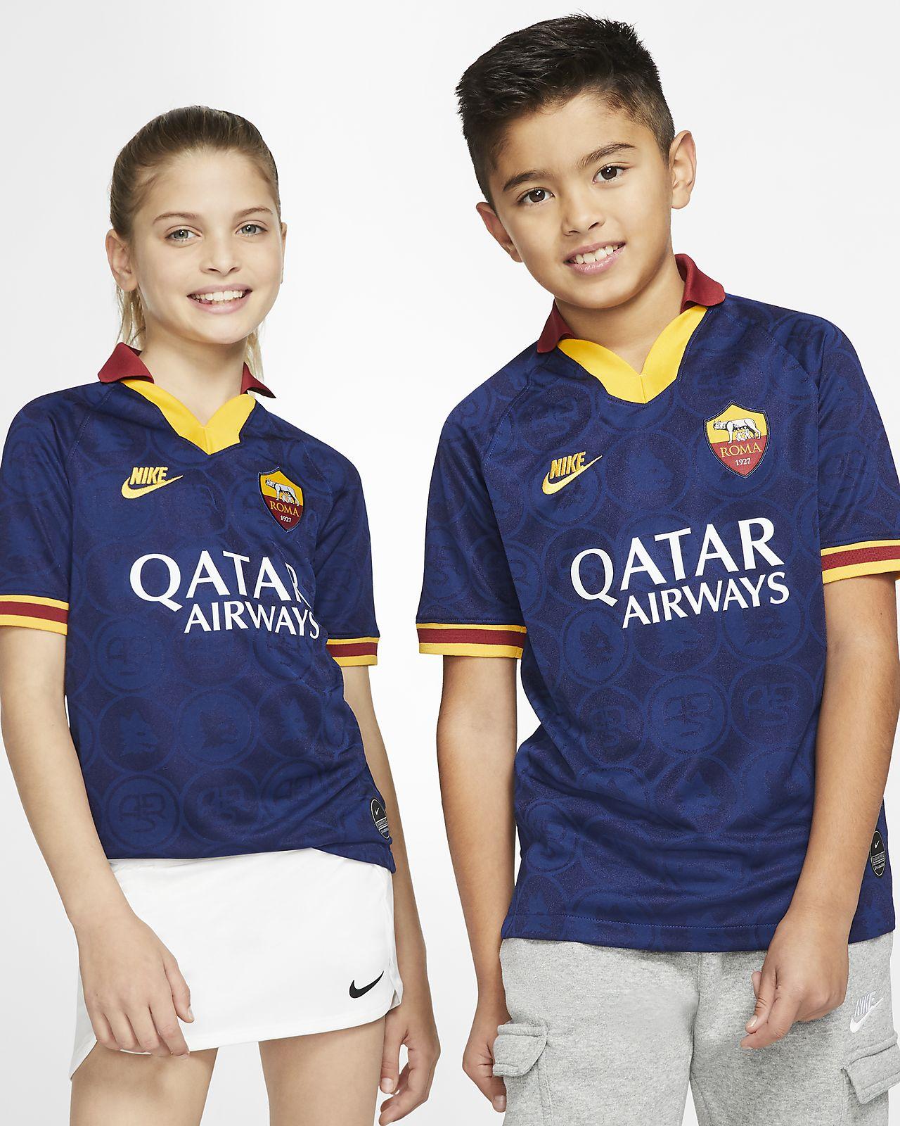 A.S. Roma 2019/20 Stadium Third fotballdrakt til store barn