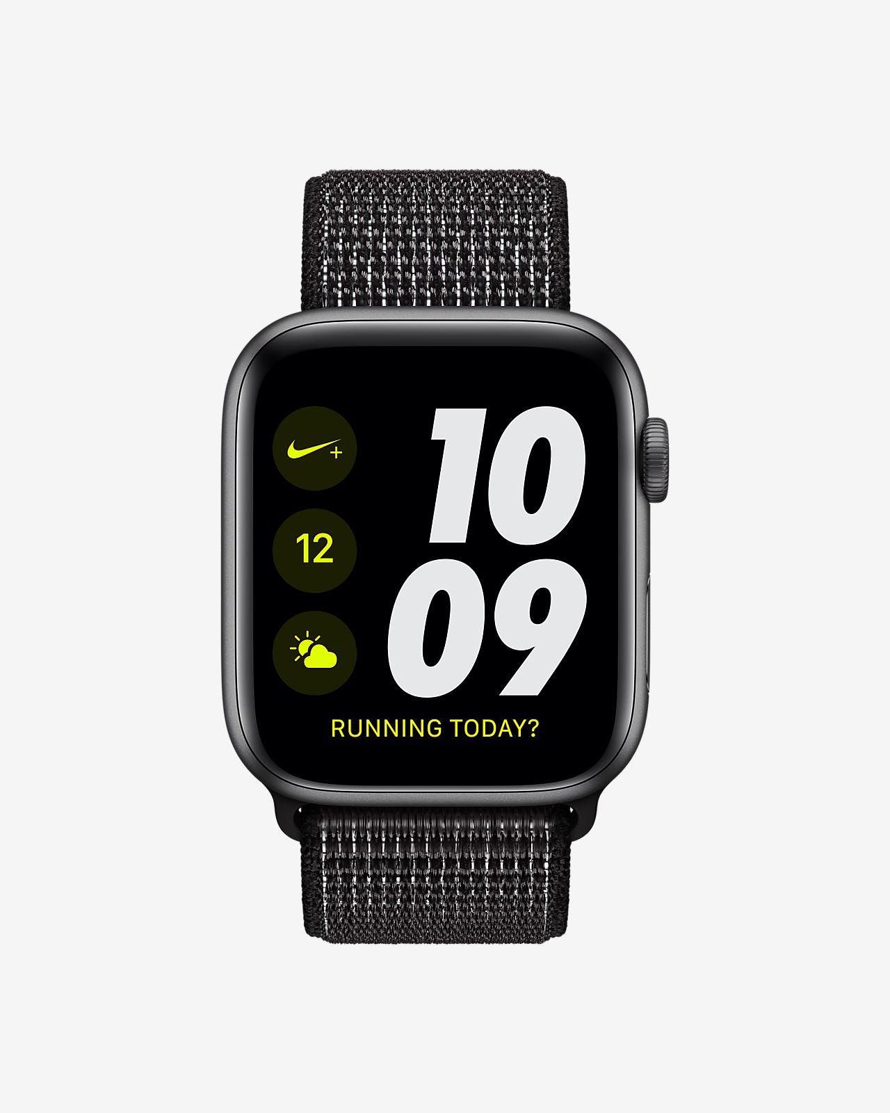 promo code 7f7ea 69d62 ... Apple Watch Nike+ Series 4 (GPS) with Nike Sport Loop 44mm Sport Watch
