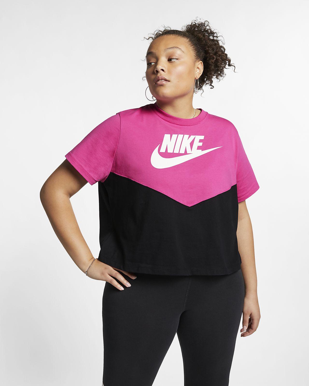 478bd0b3 Nike Sportswear Heritage Women's Short-Sleeve Top (Plus Size). Nike.com