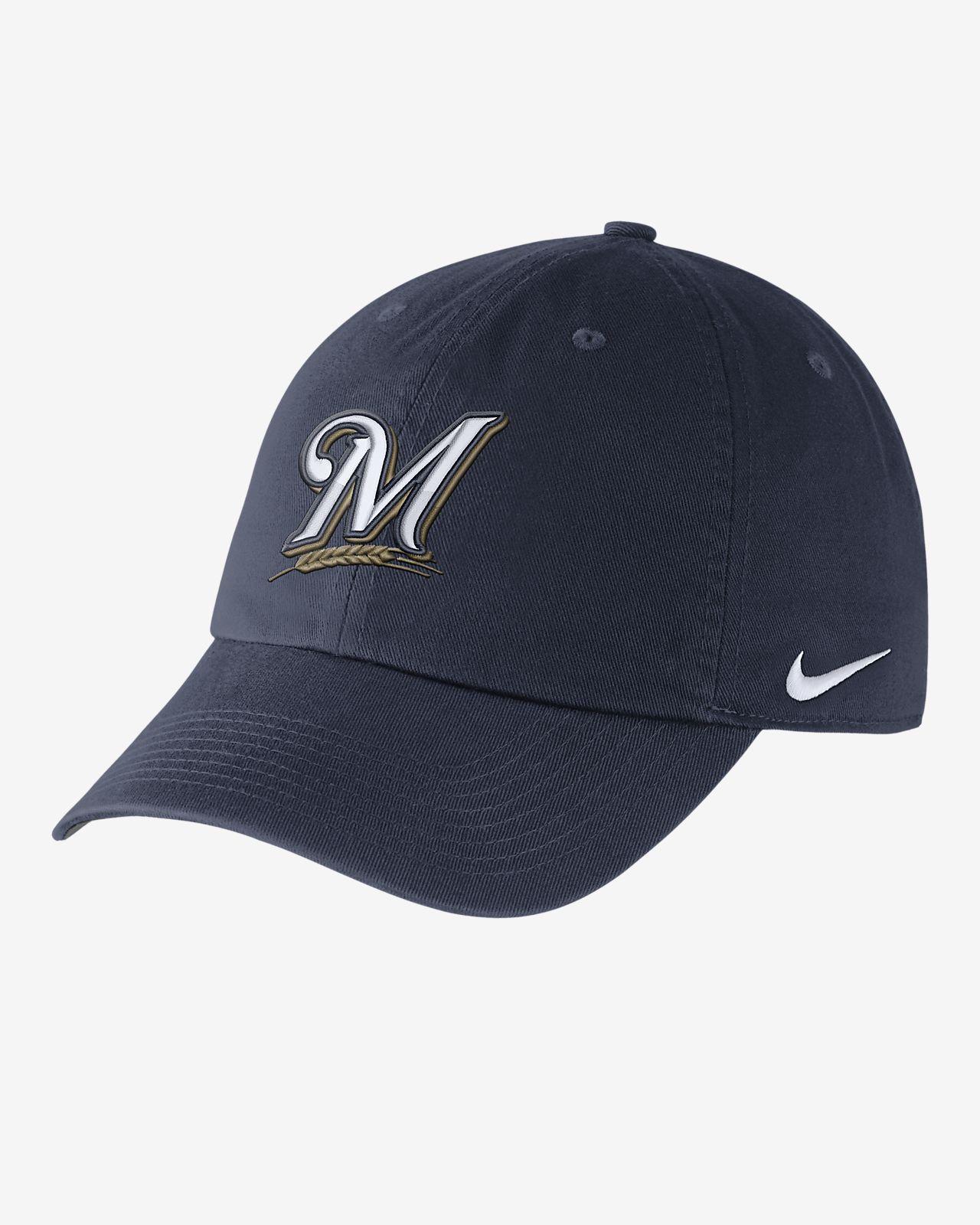 aee8fa38a48 Nike Heritage 86 Stadium (MLB Brewers) Adjustable Hat. Nike.com