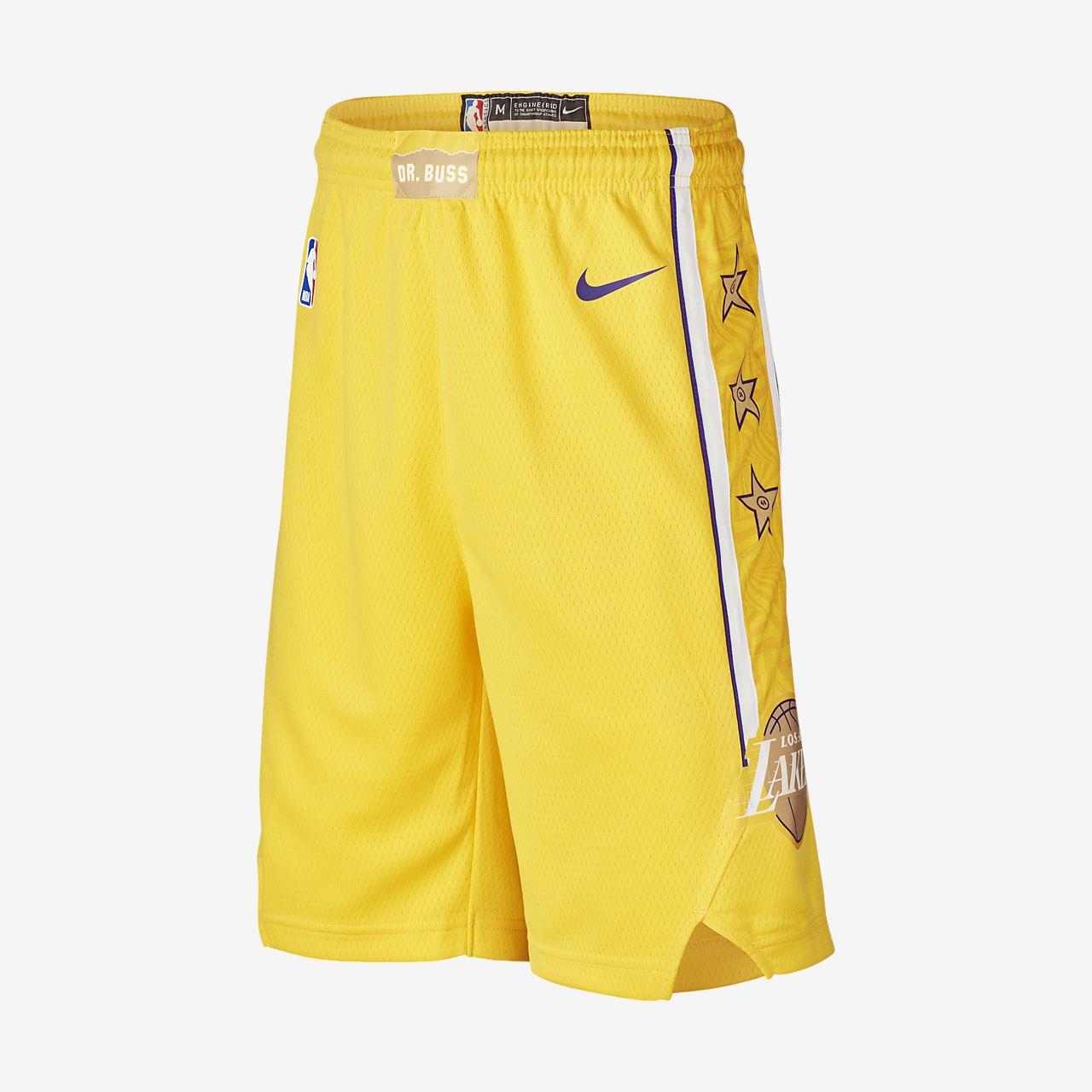 Shorts Lakers City Edition Swingman Nike NBA Ragazzi