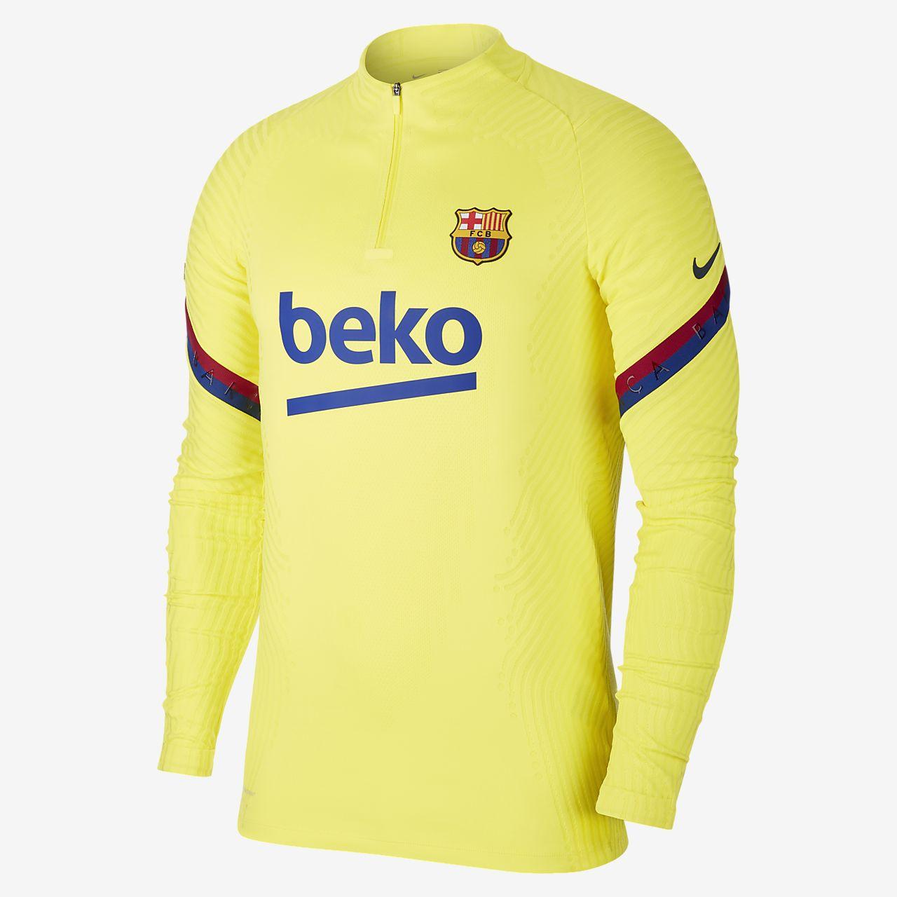 Prenda para la parte superior de entrenamiento de fútbol para hombre Nike VaporKnit FC Barcelona Strike