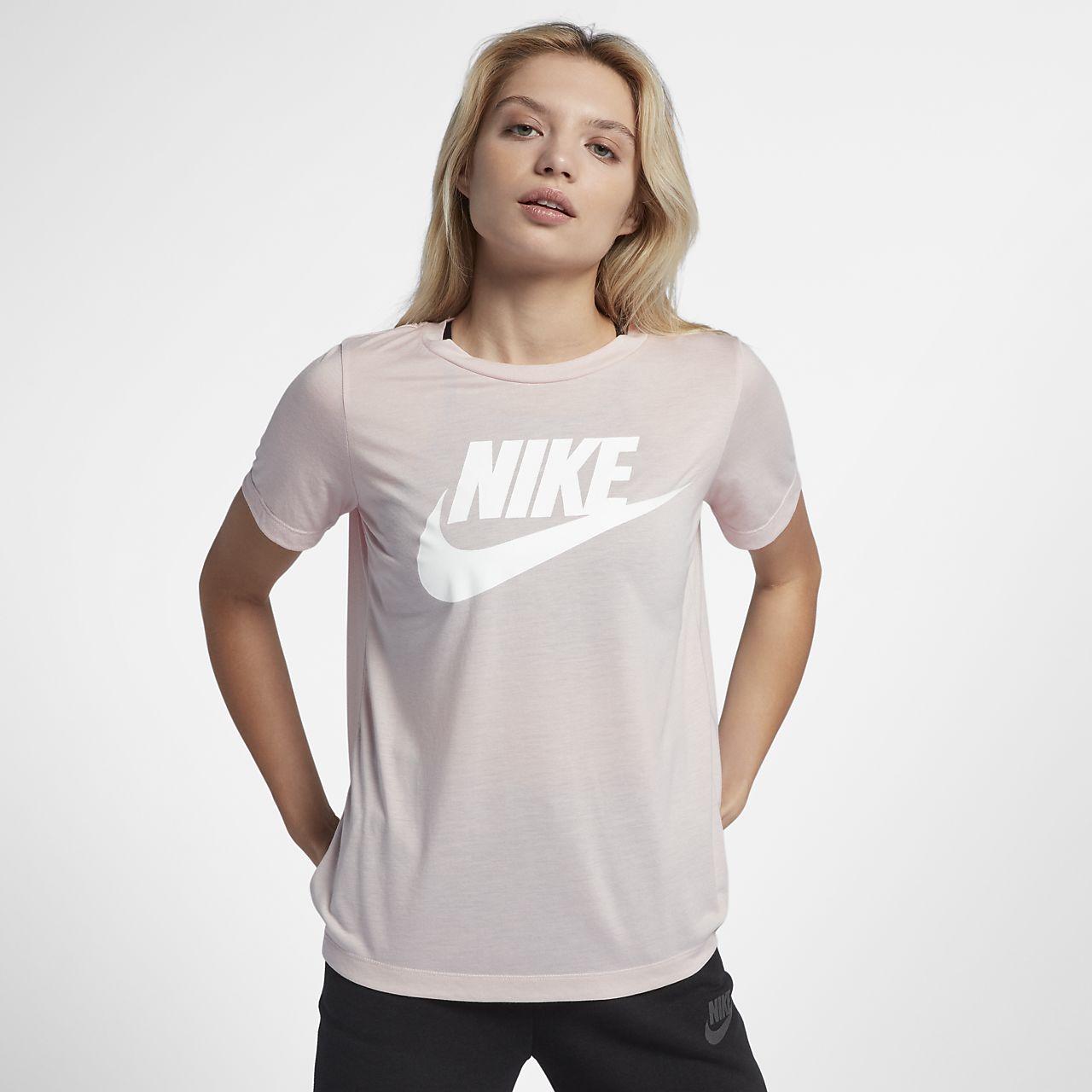 ... Nike Sportswear Essential Women's Logo Short-Sleeve Top