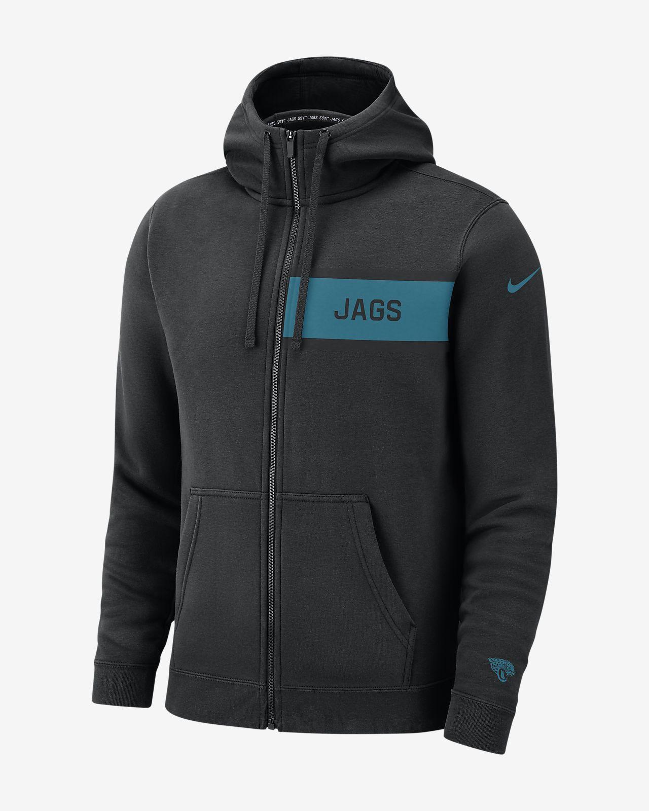 Sweat à capuche entièrement zippé Nike (NFL Jaguars) Club Fleece pour Homme