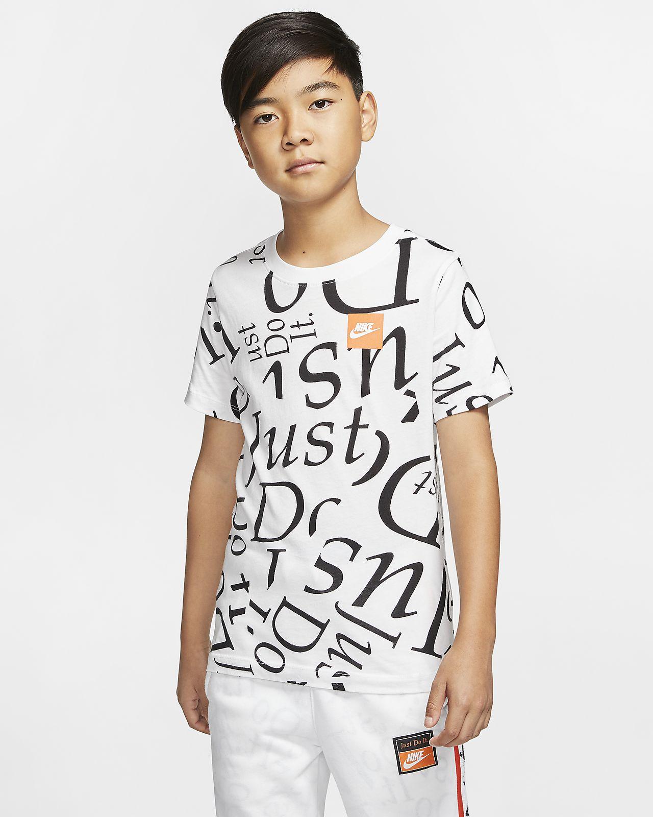 Nike Sportswear Older Kids' (Boys') Printed T Shirt