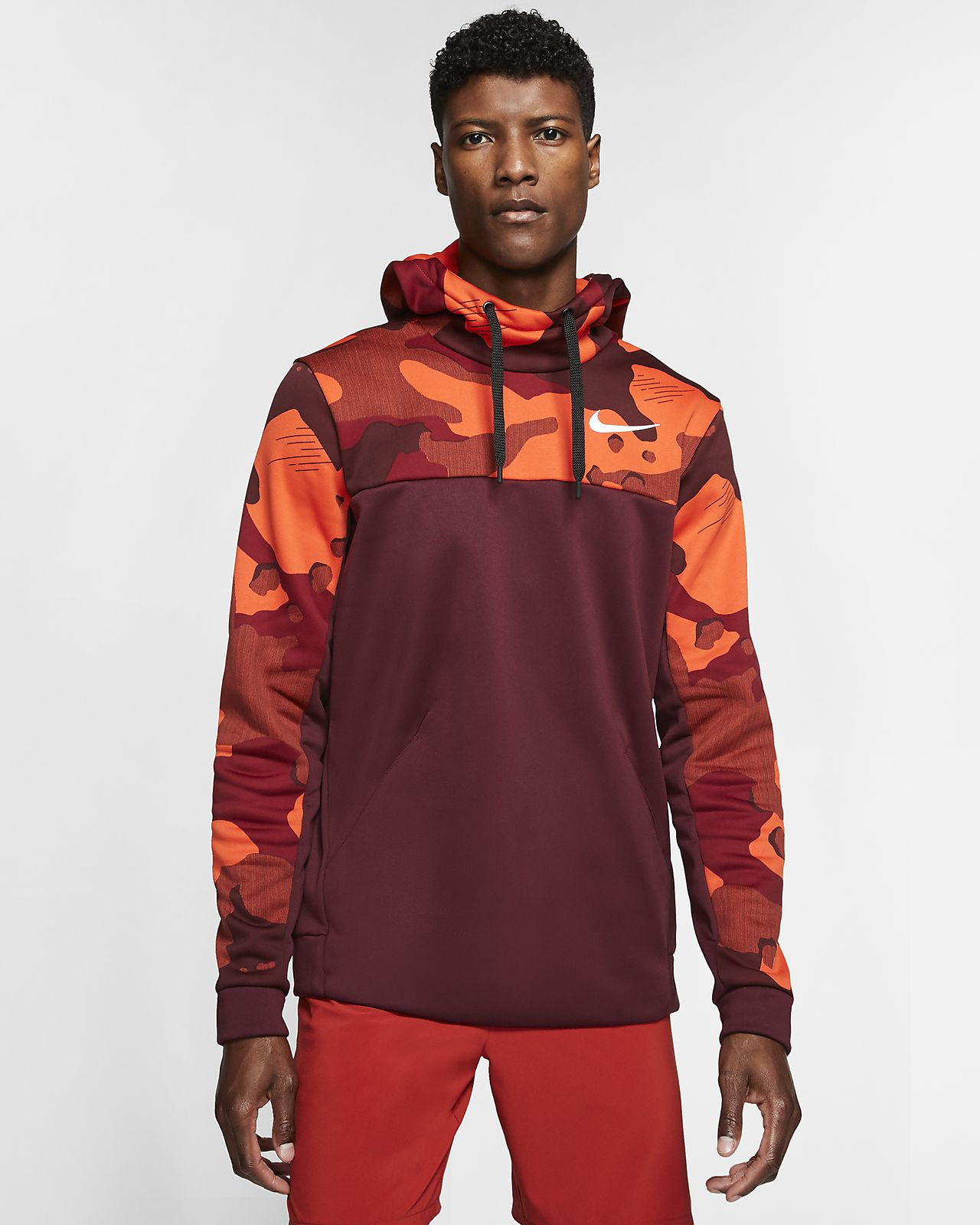 Hoodie pullover de treino Nike Therma para homem
