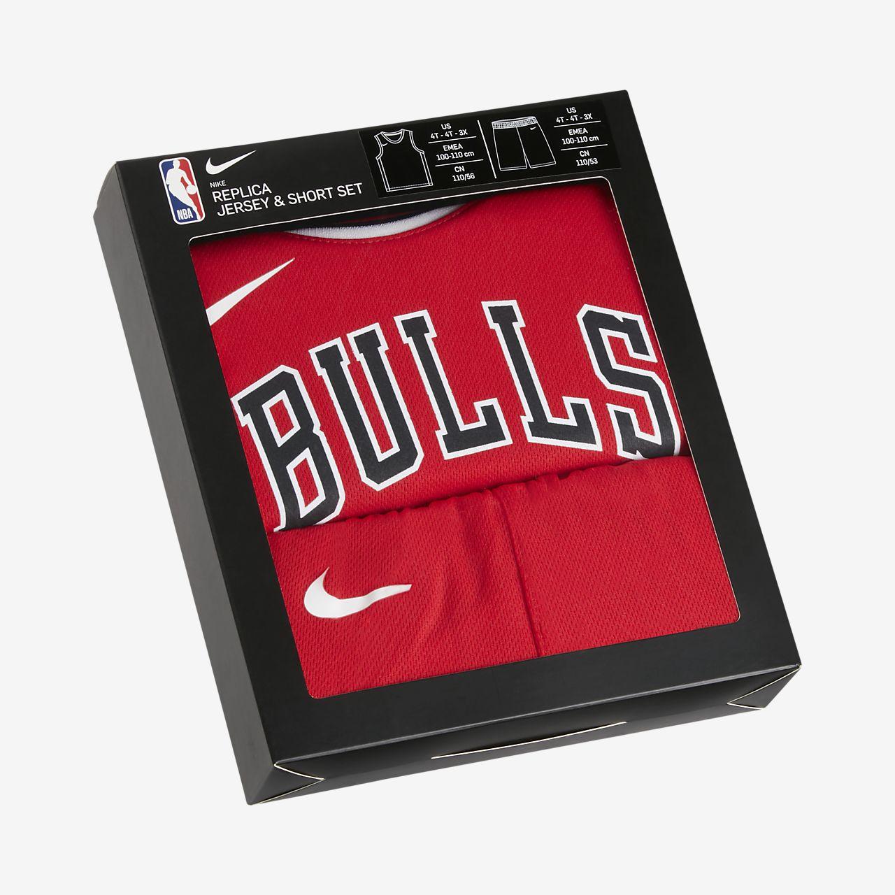 Bulls Replica Conjunto de camiseta y pantalón corto Nike NBA Infantil