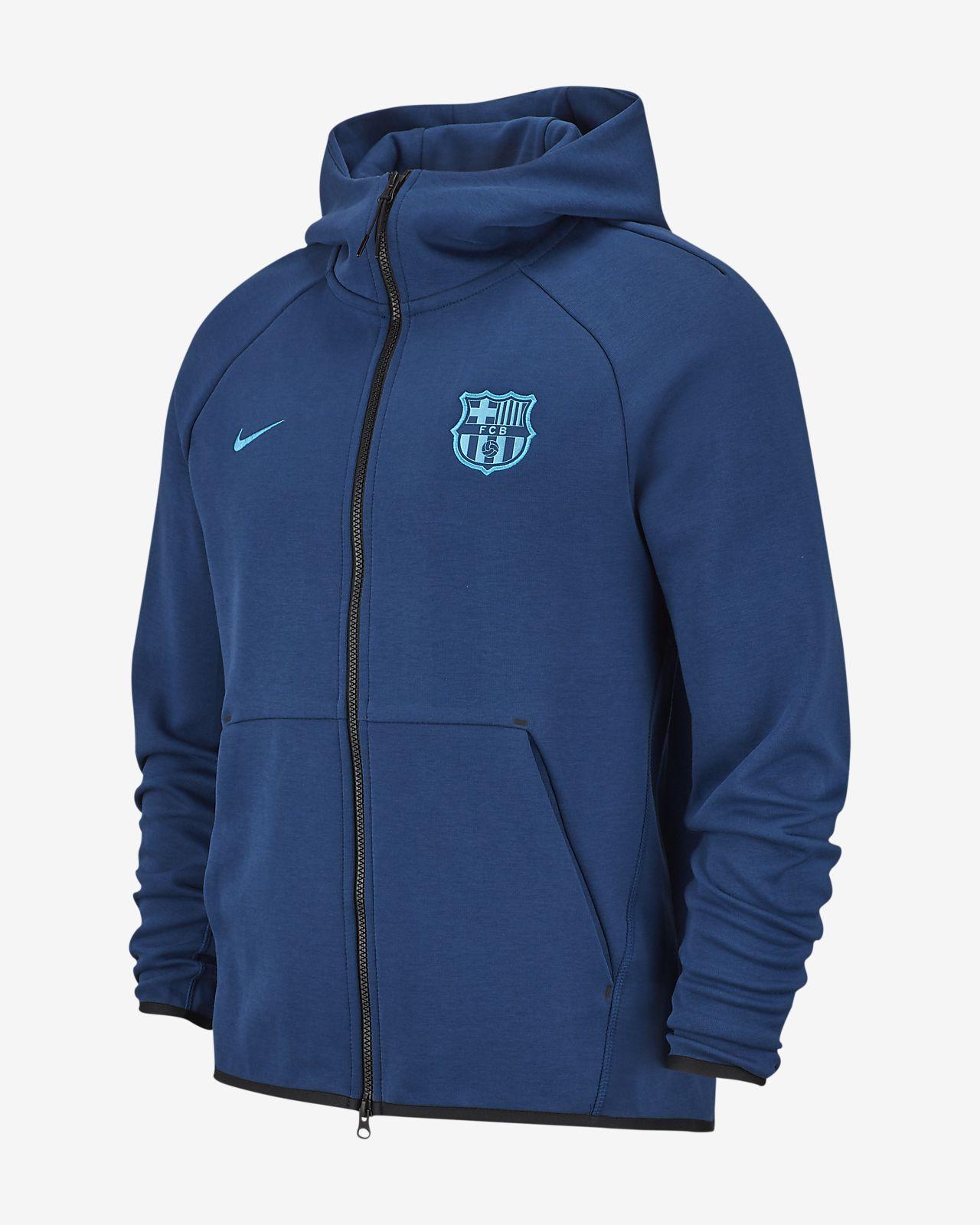 FC Barcelona Tech Fleece-hættetrøje til mænd