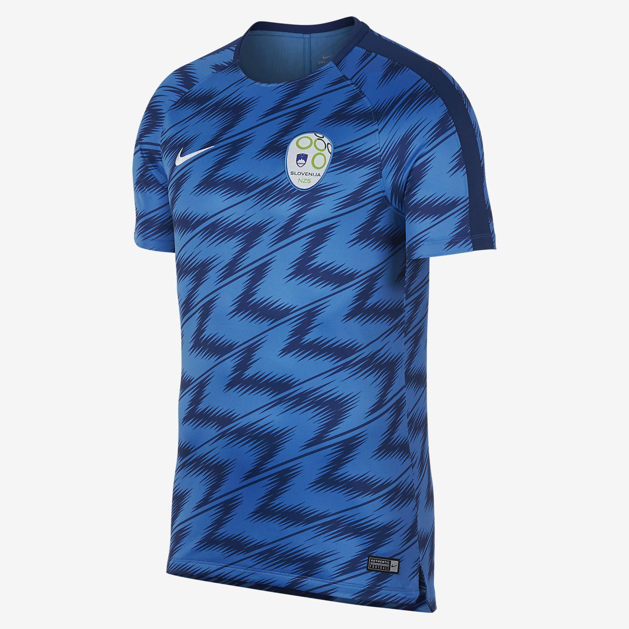 Slovenia Dri-FIT Squad-fodboldtrøje til mænd