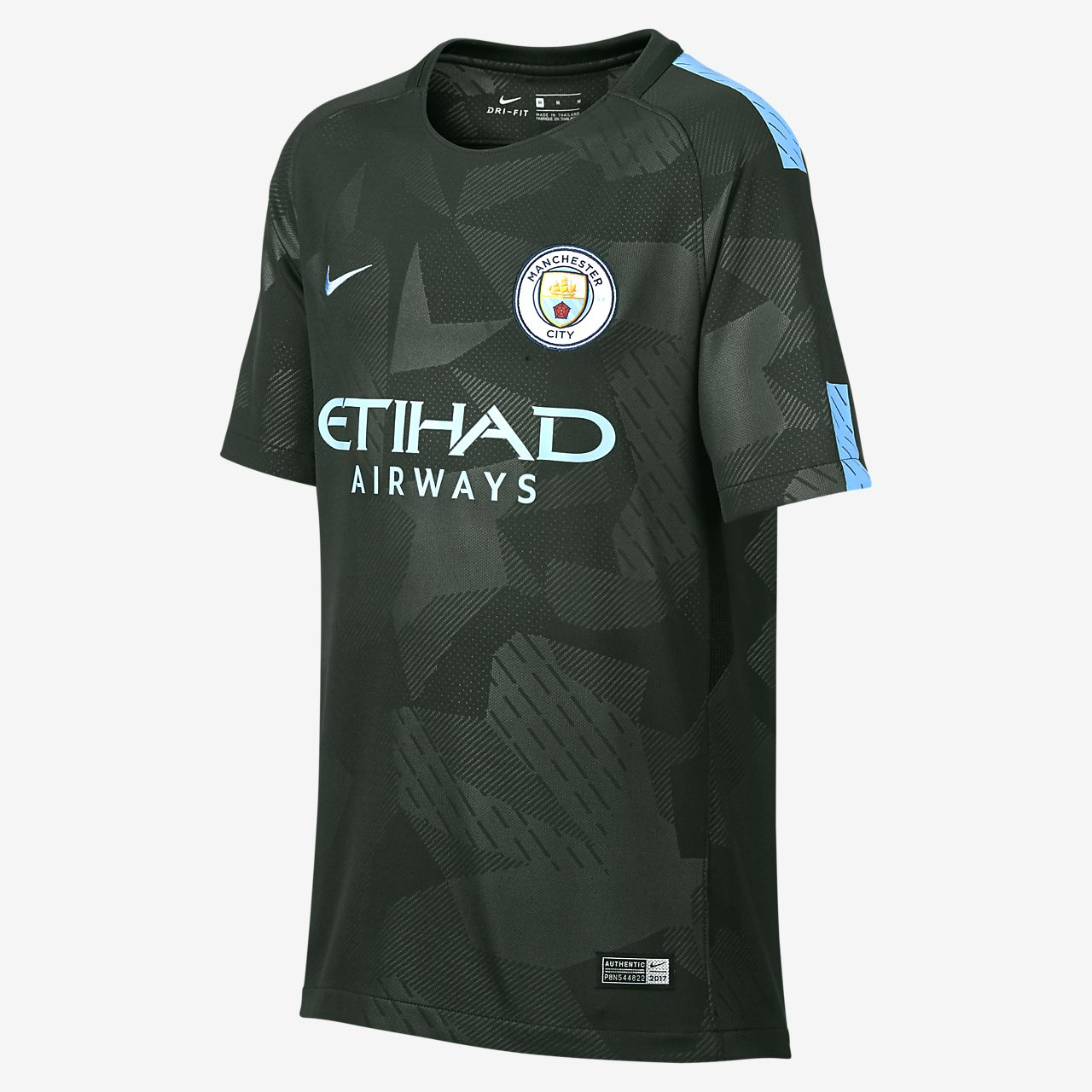 ... 2017/18 Manchester City FC Stadium Third Older Kids' Football Shirt