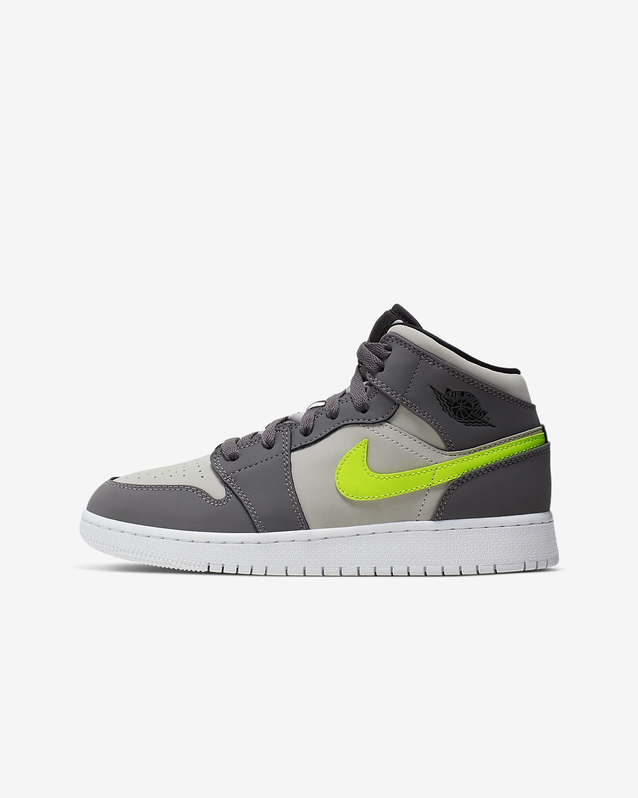 Nike NIKE Air Jordan sneakers Womens AIR JORDAN 1 MID BG Air Jordan 1 mid 554725 028 shoes black