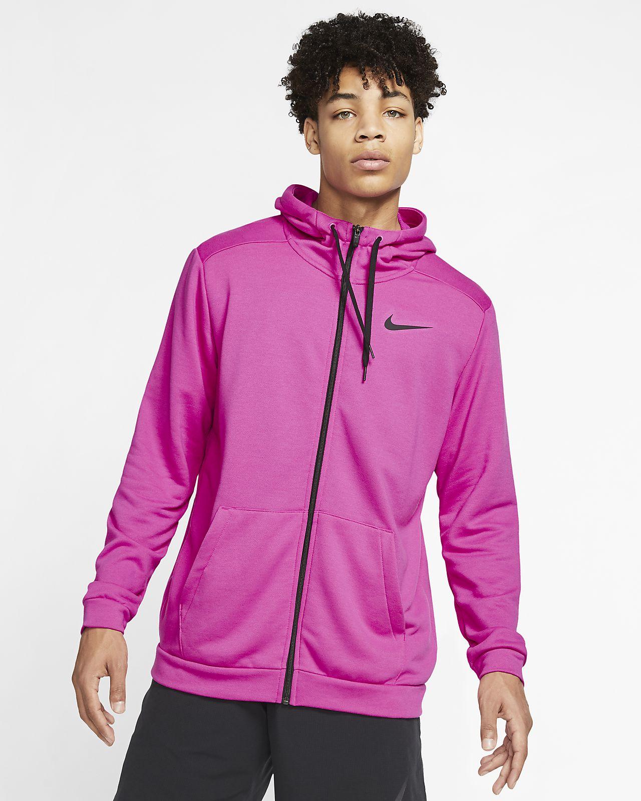 Nike Dri-FIT-træningshættetrøje med lynlås til mænd